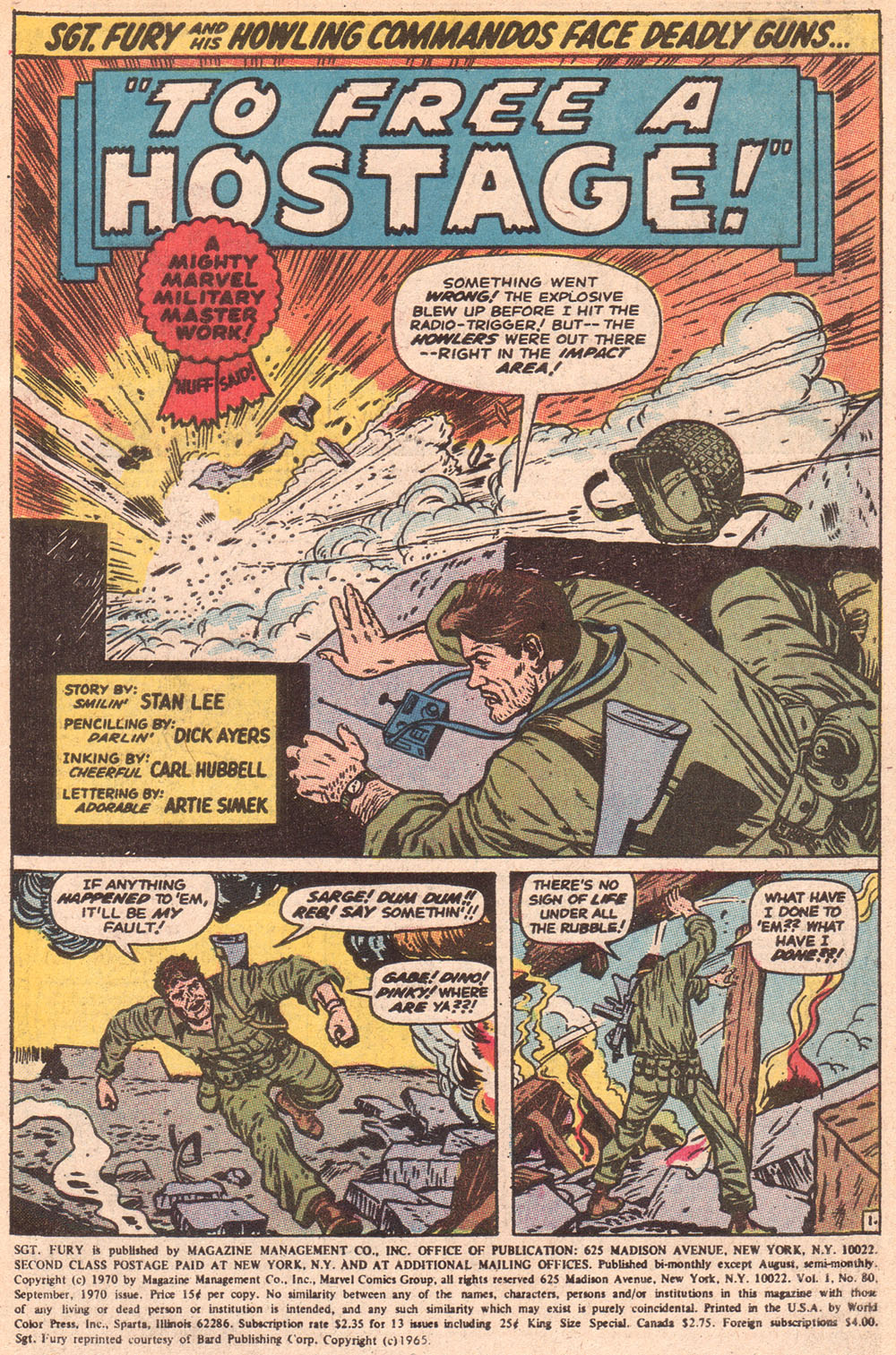 Read online Sgt. Fury comic -  Issue #80 - 3