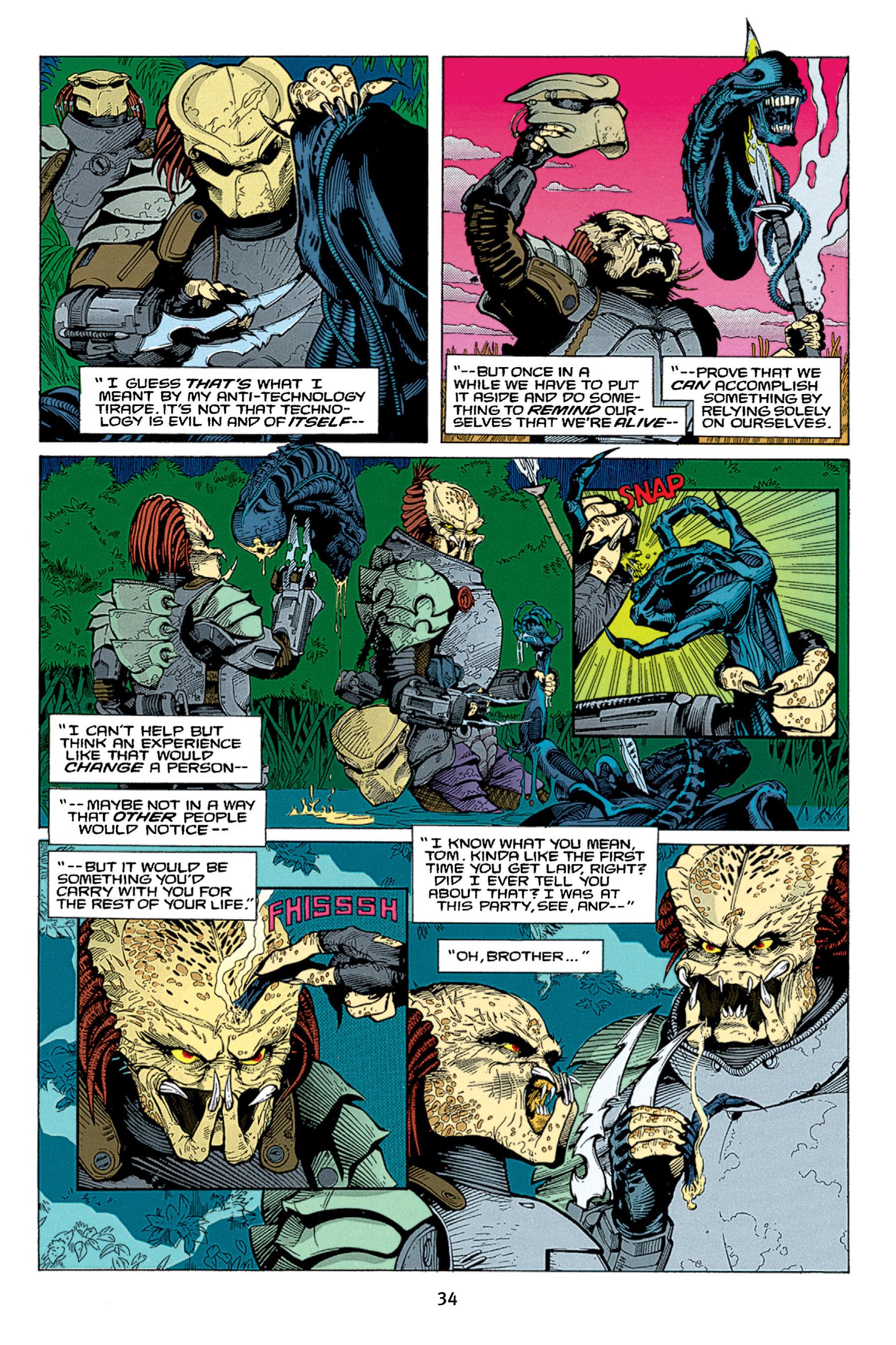 Read online Aliens vs. Predator Omnibus comic -  Issue # _TPB 1 Part 1 - 34