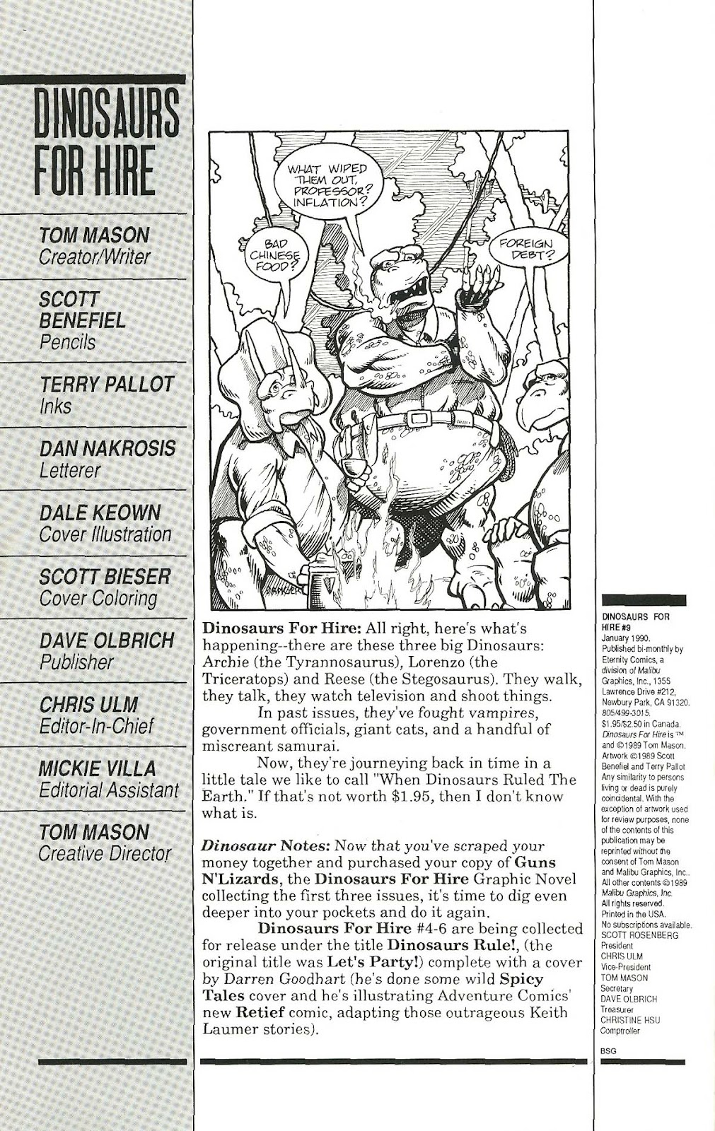 Dinosaurs For Hire (1988) issue 9 - Page 2