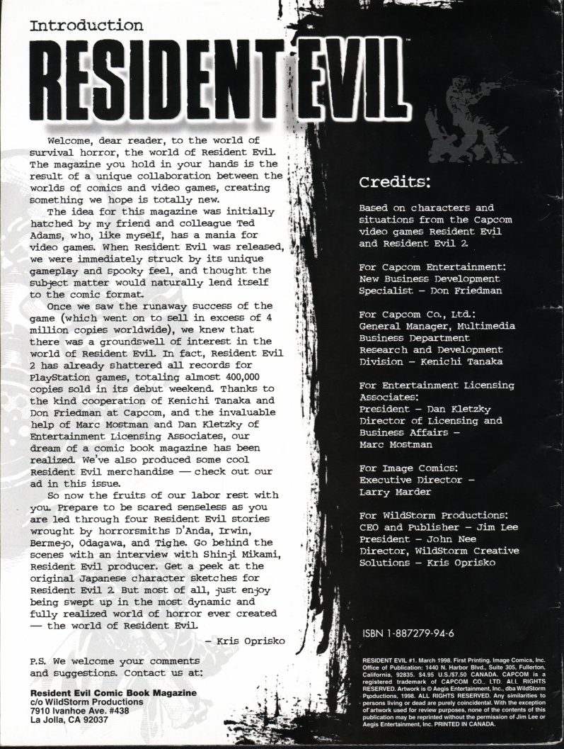 Resident Evil (1998) Issue #1 #1 - English 2