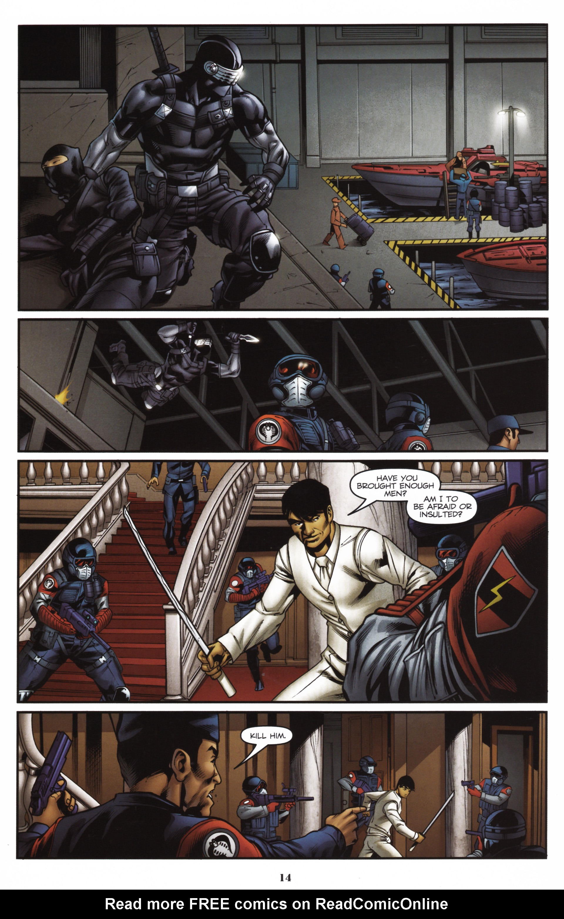 Read online Snake Eyes and Storm Shadow comic -  Issue #16 - 16