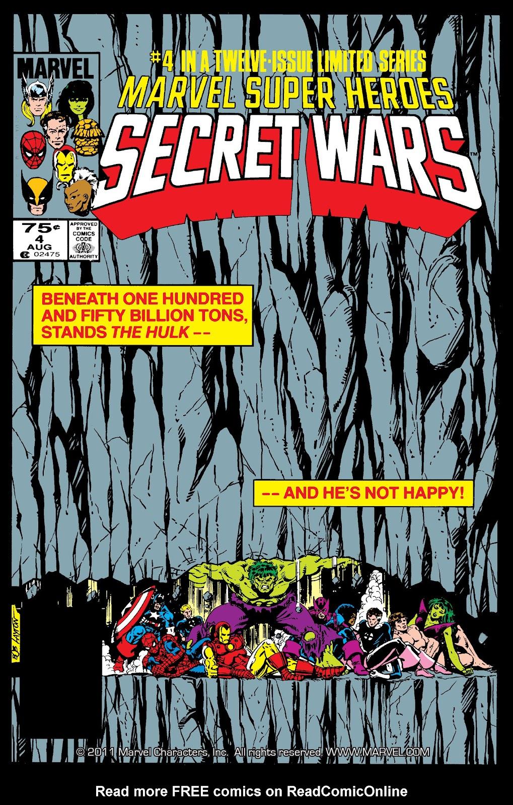 Marvel Super Heroes Secret Wars (1984) 4 Page 1