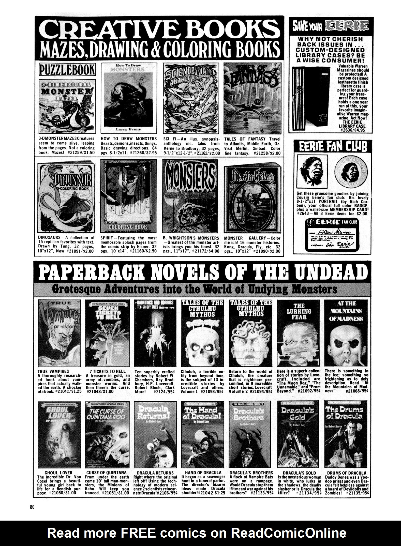 Read online Eerie Archives comic -  Issue # TPB 18 - 81