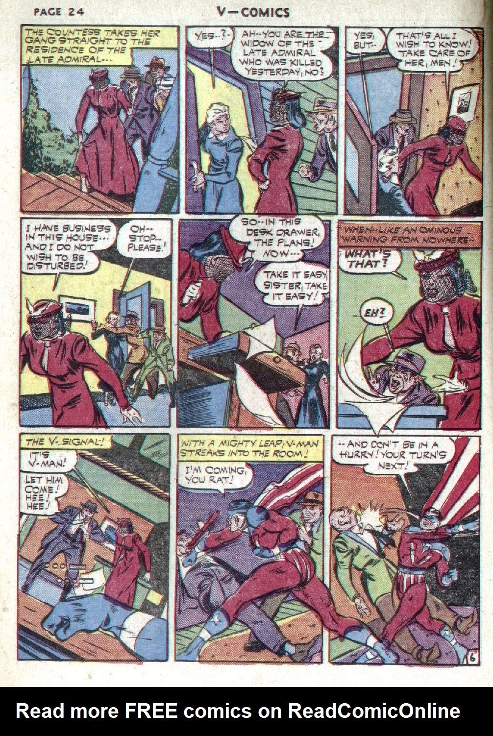Read online V...- Comics comic -  Issue #1 - 26