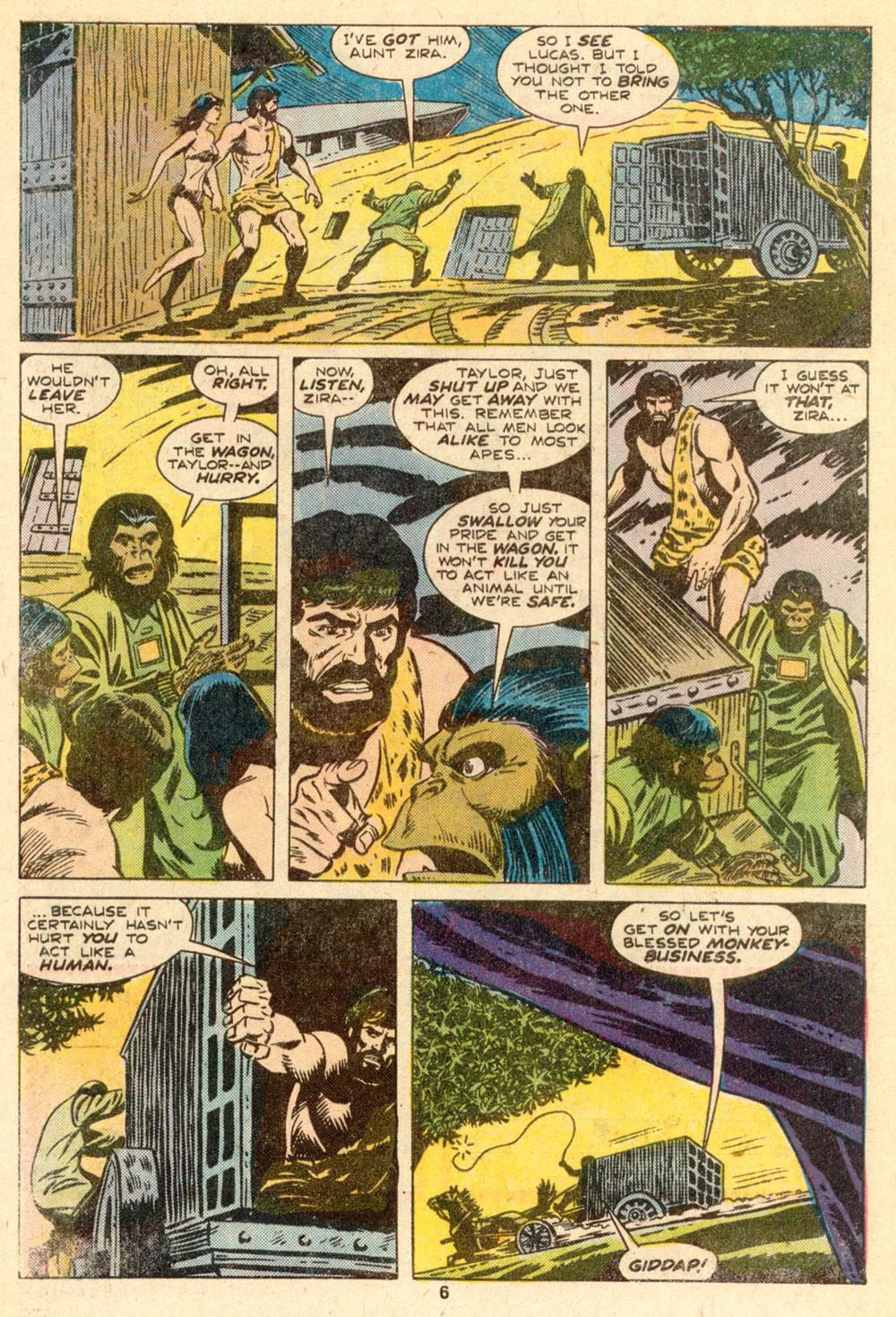 Read online Adventures on the Planet of the Apes comic -  Issue #5 - 5