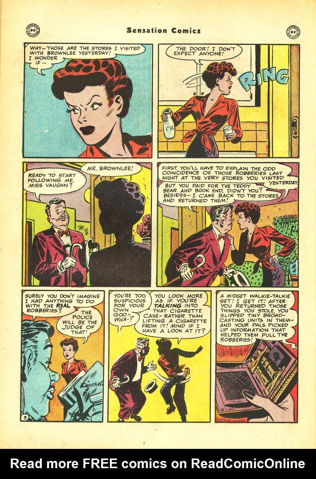 Read online Sensation (Mystery) Comics comic -  Issue #86 - 20