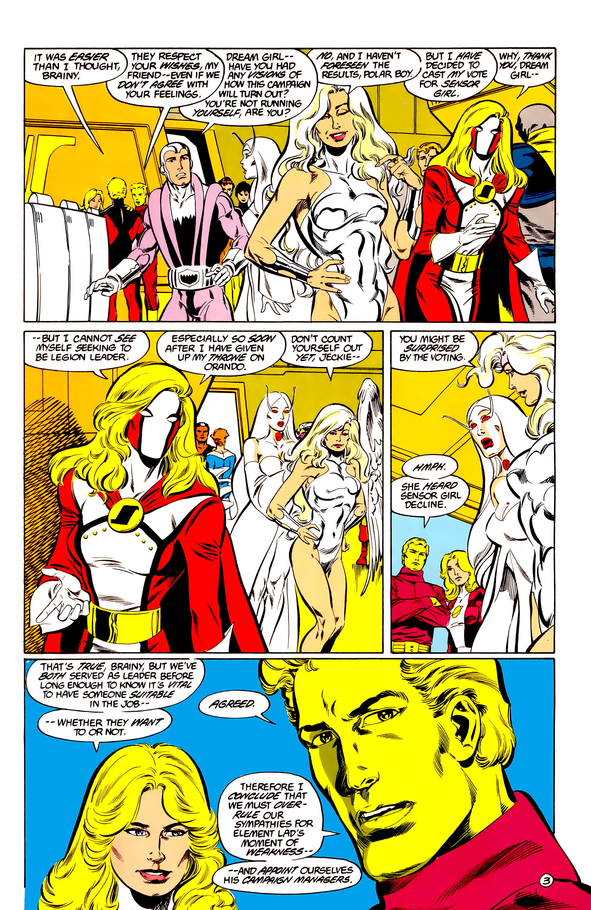 Legion of Super-Heroes (1984) 36 Page 3