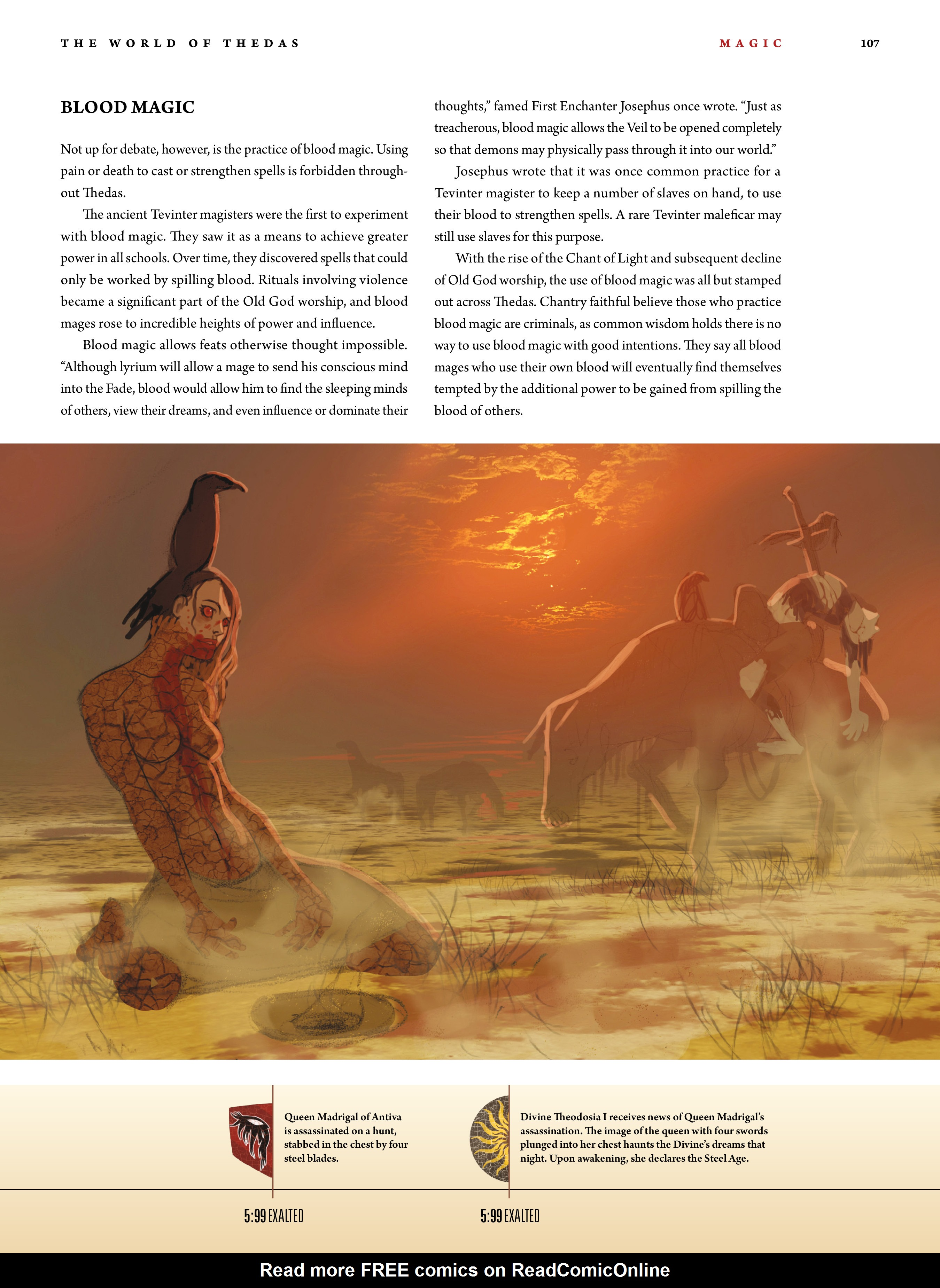 Read online Dragon Age: The World of Thedas comic -  Issue # TPB 1 - 87