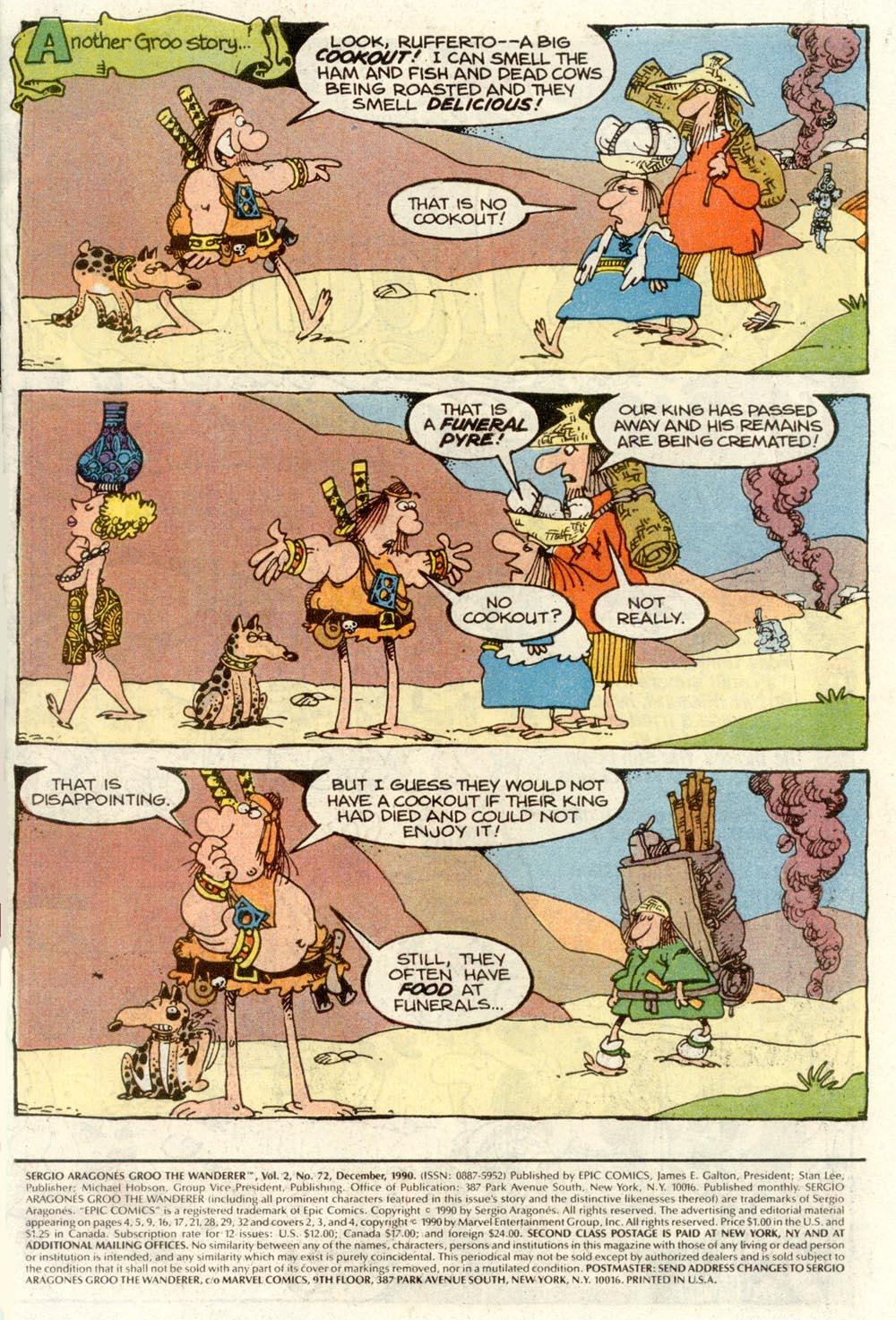 Read online Sergio Aragonés Groo the Wanderer comic -  Issue #72 - 2