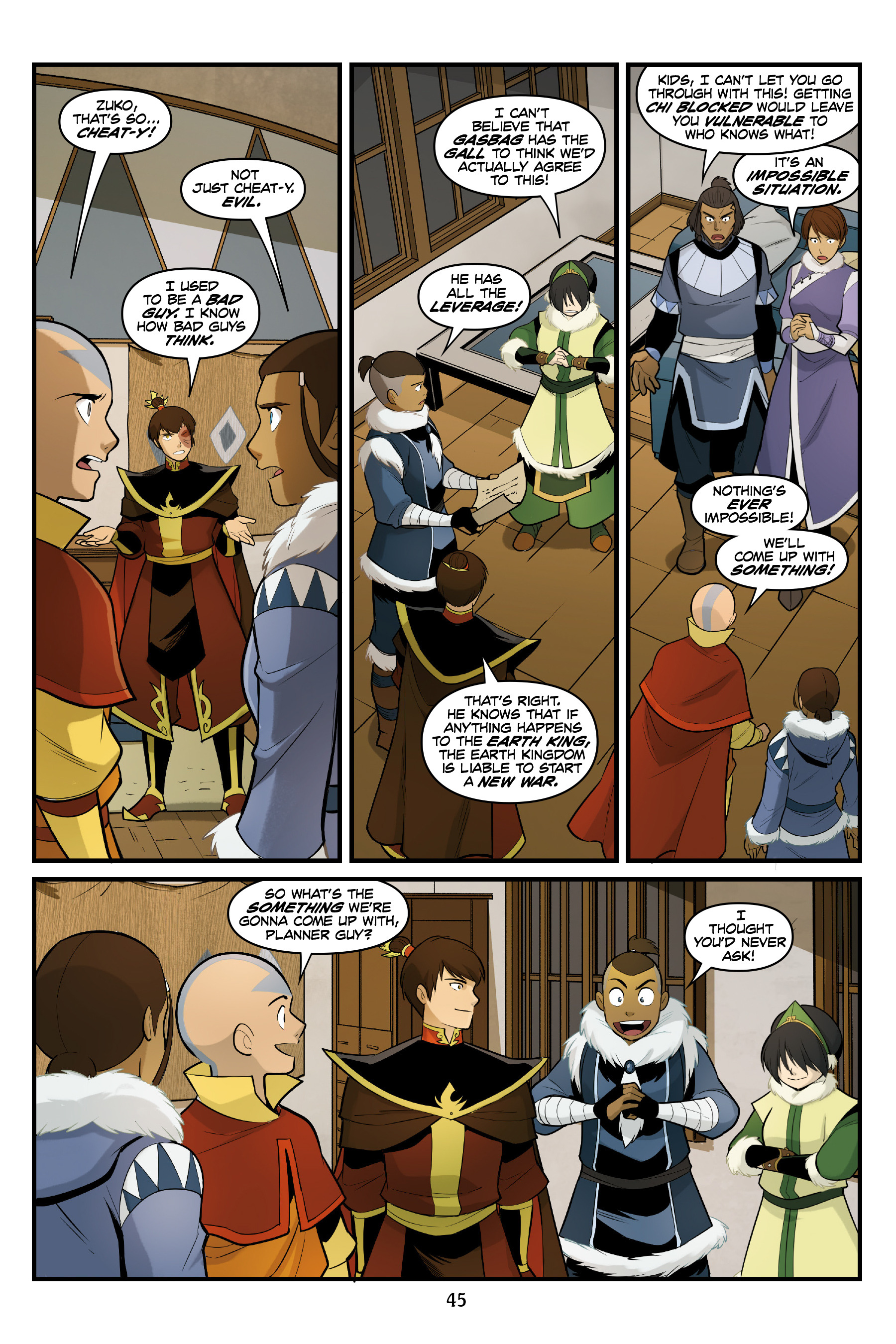Read online Nickelodeon Avatar: The Last Airbender - North and South comic -  Issue #3 - 45