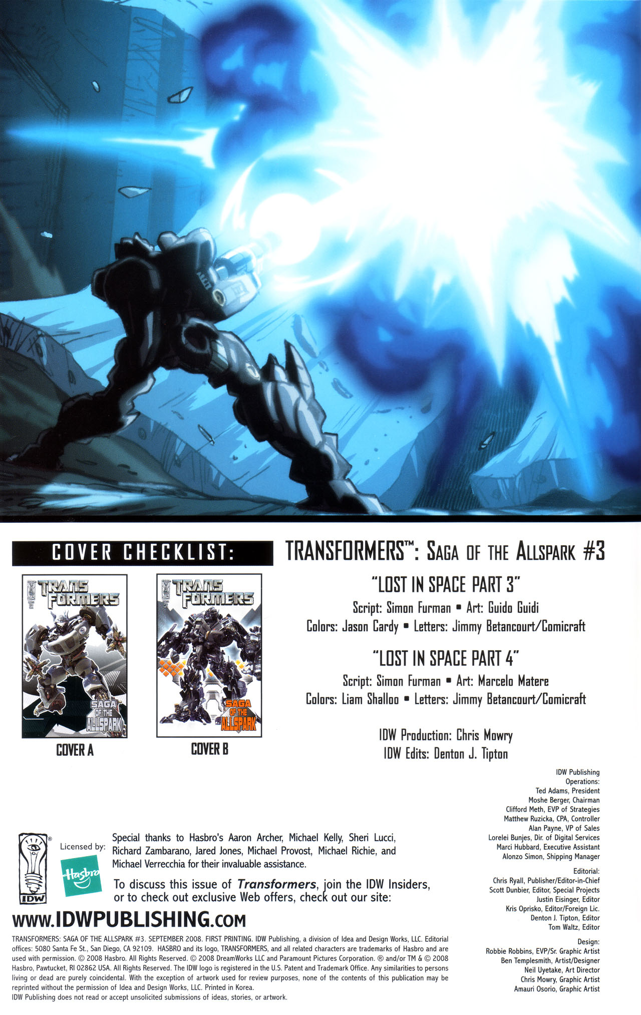 Read online Transformers: Saga of the Allspark comic -  Issue #3 - 3