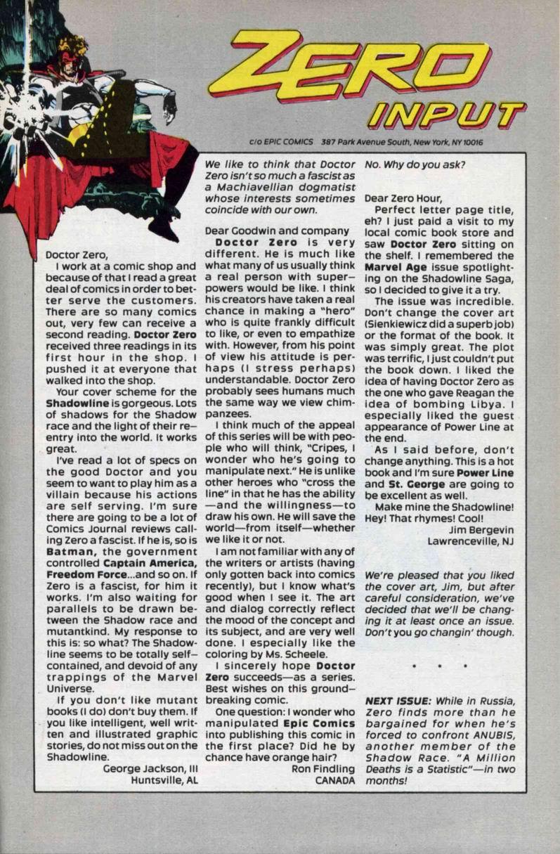 Read online Doctor Zero comic -  Issue #3 - 31