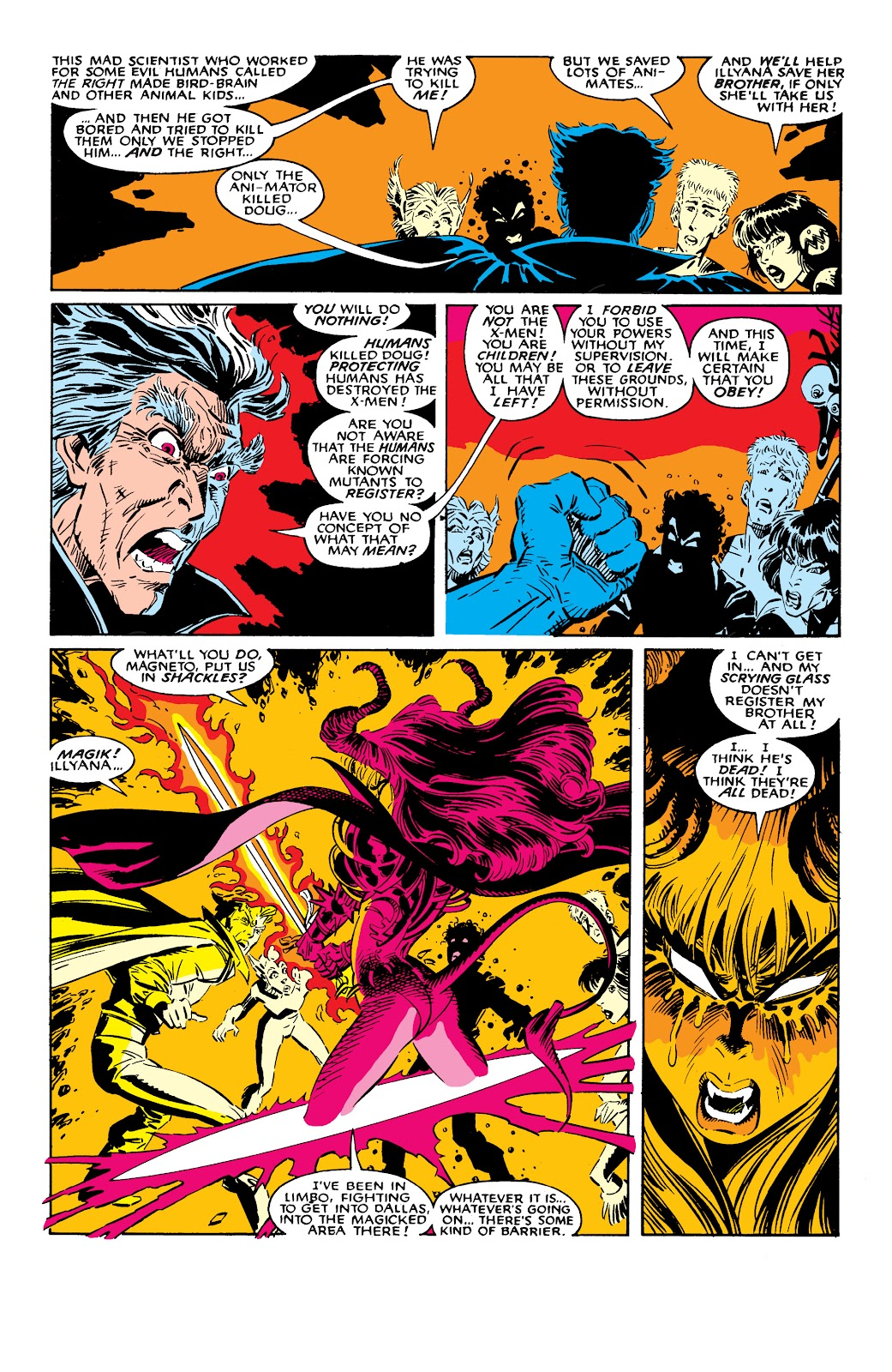 Read online X-Men Milestones: Fall of the Mutants comic -  Issue # TPB (Part 2) - 76