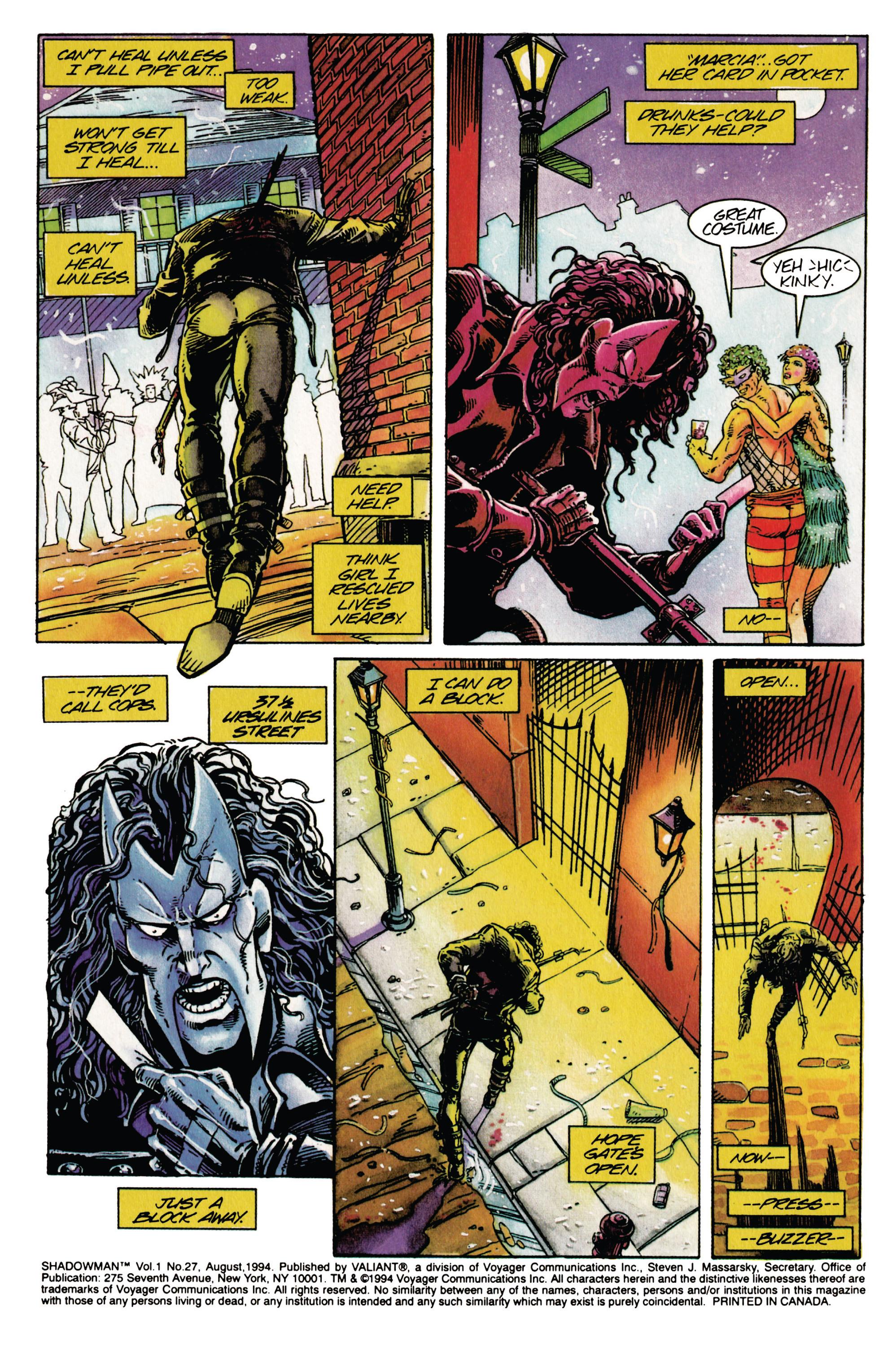 Read online Shadowman (1992) comic -  Issue #27 - 3