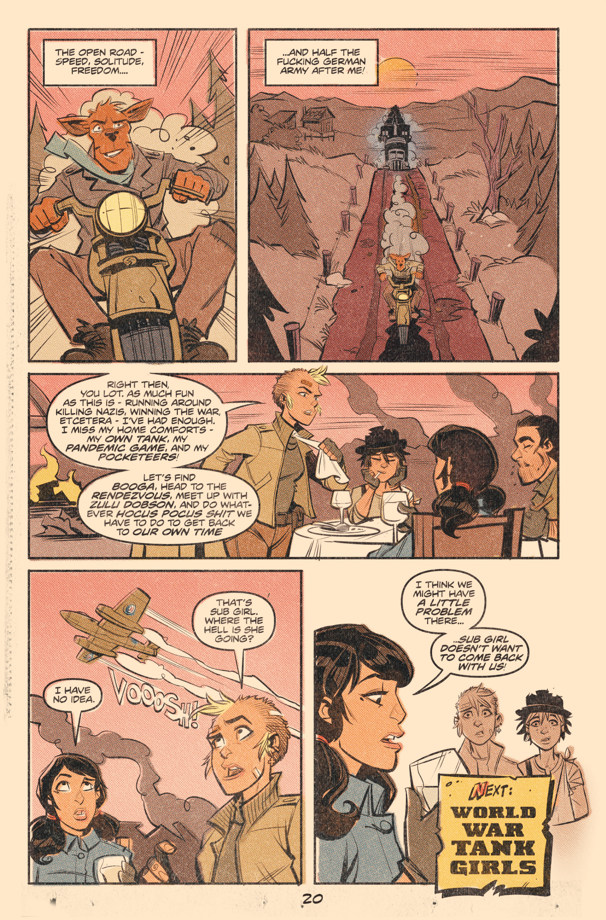 Read online Tank Girl: World War Tank Girl comic -  Issue #2 - 22