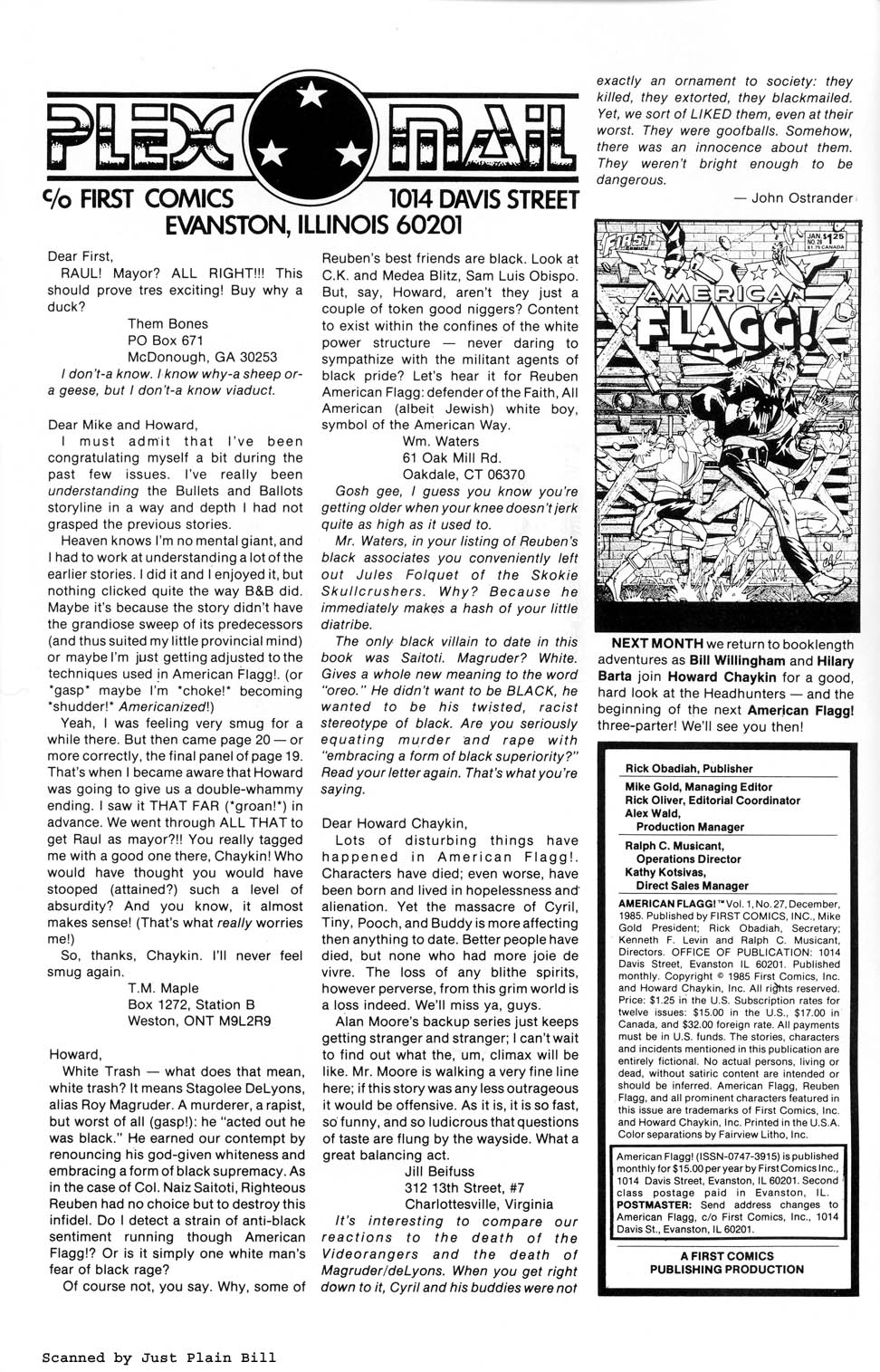 Read online American Flagg! comic -  Issue #27 - 2