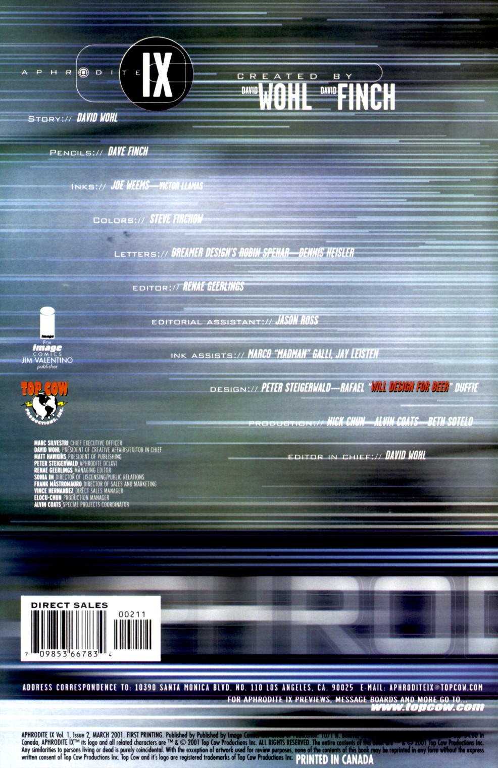 Read online Aphrodite IX (2000) comic -  Issue #2 - 3