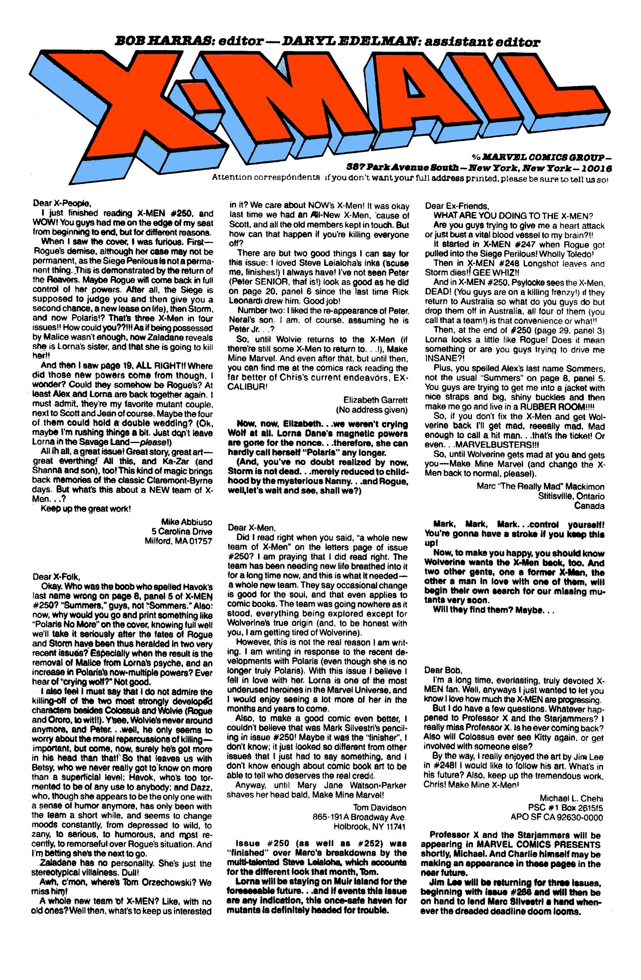 Read online Uncanny X-Men (1963) comic -  Issue #255 - 24