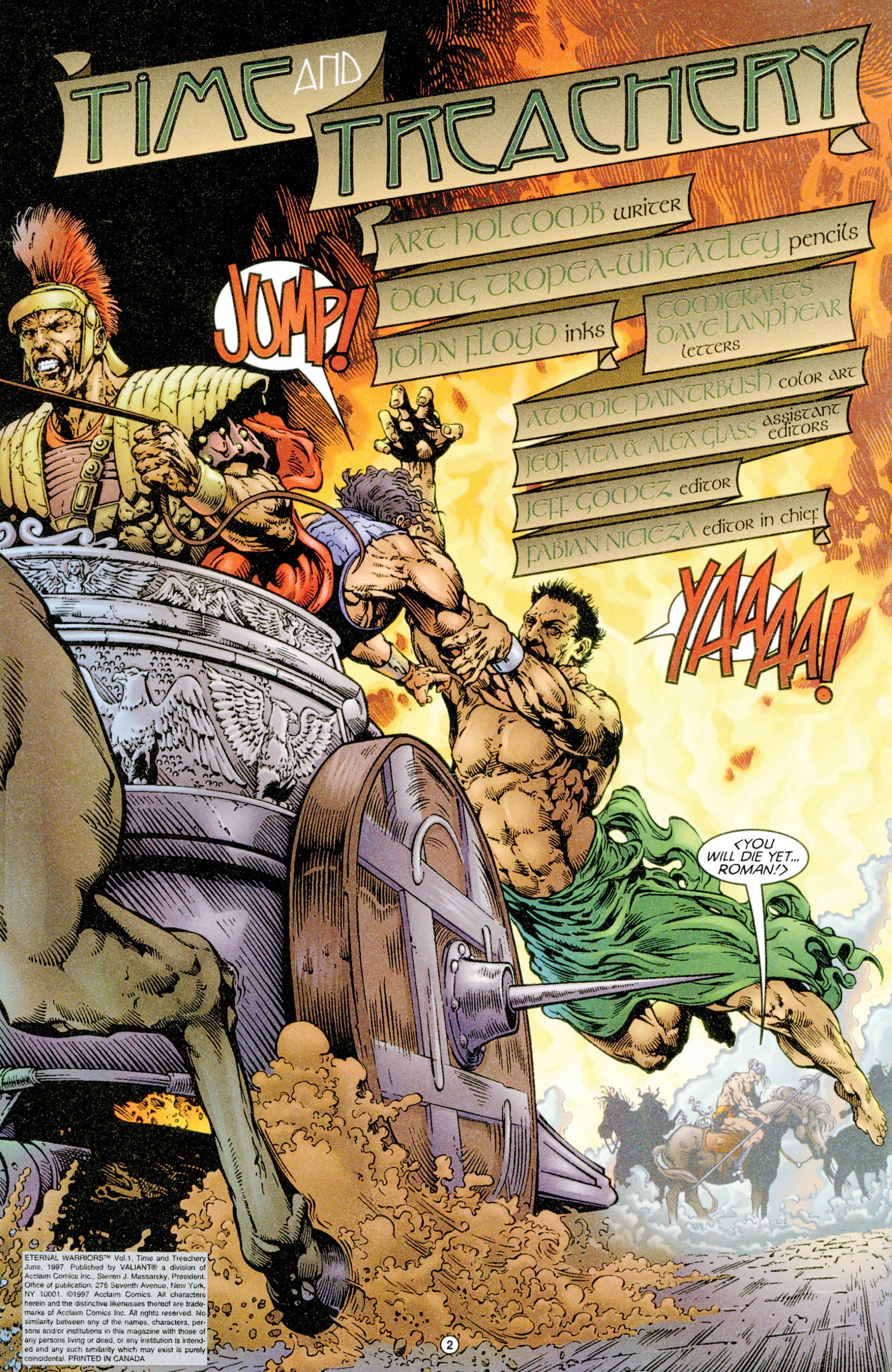 Read online Eternal Warriors comic -  Issue # Issue Time & Treachery - 3