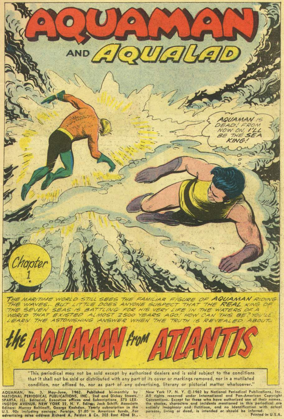 Read online Aquaman (1962) comic -  Issue #3 - 3