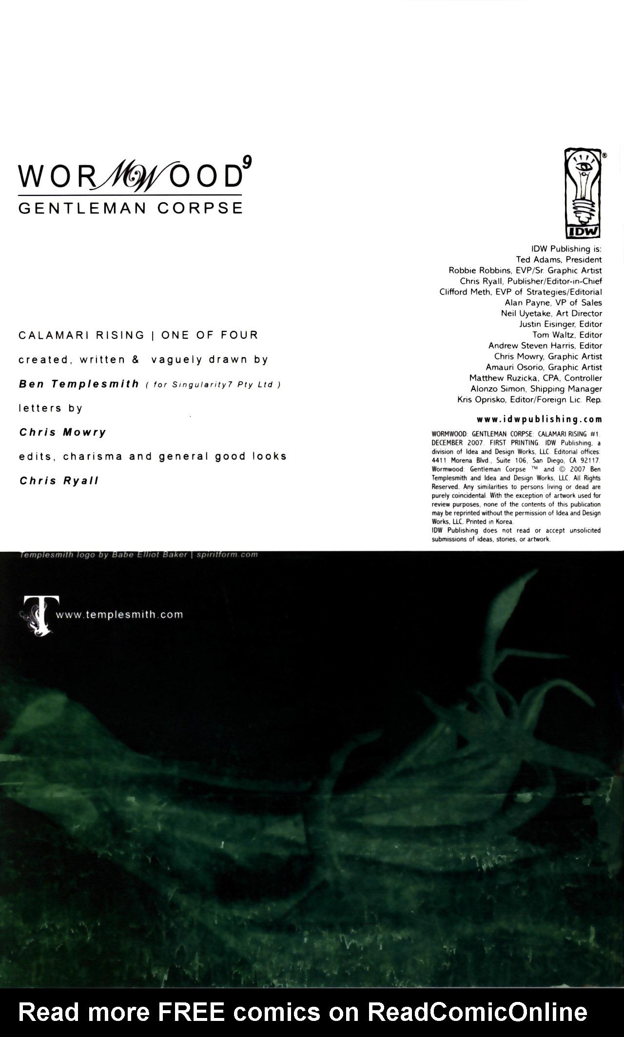 Read online Wormwood: Gentleman Corpse comic -  Issue #9 - 2