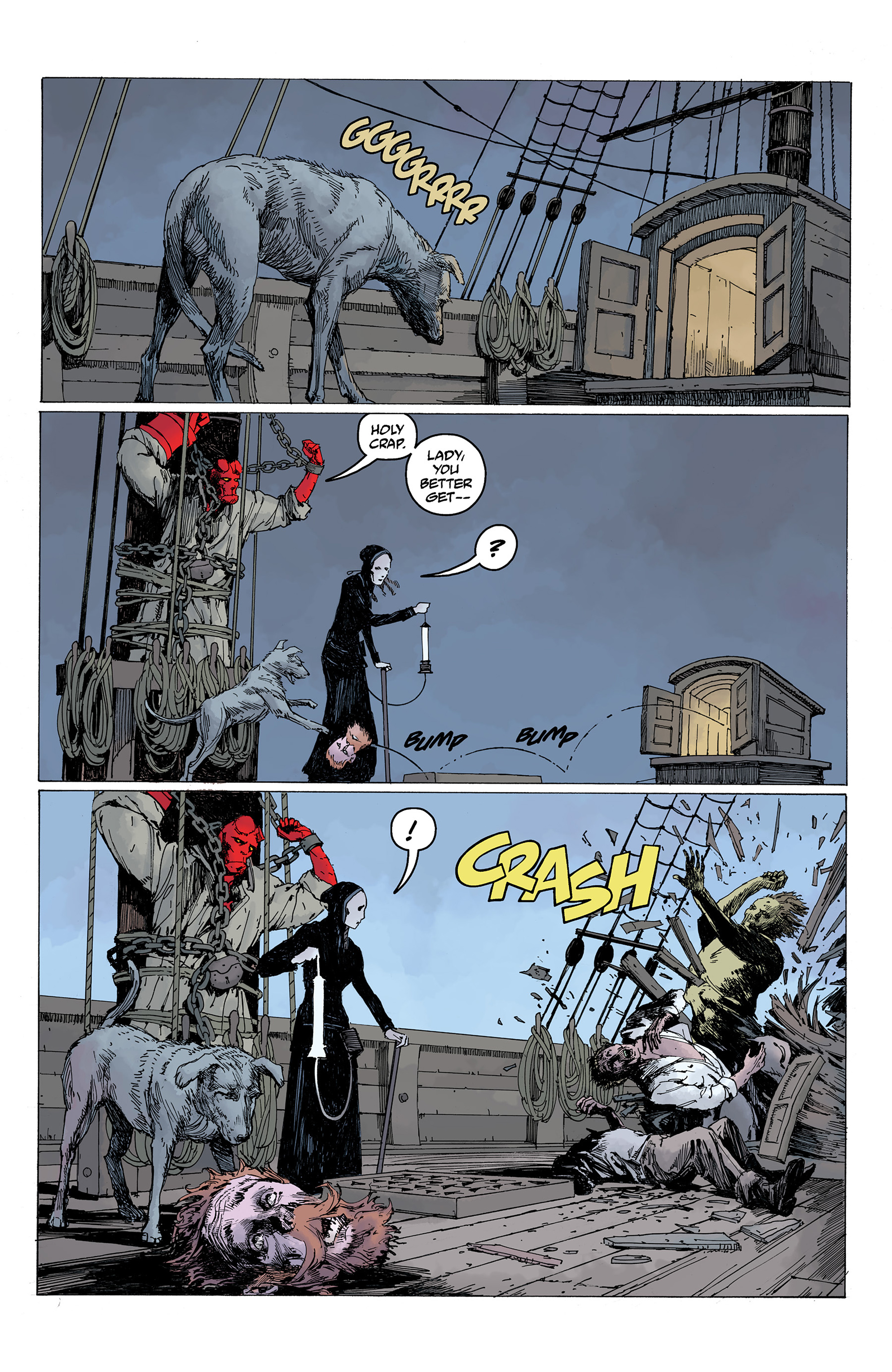 Read online Hellboy: Into the Silent Sea comic -  Issue # Full - 36