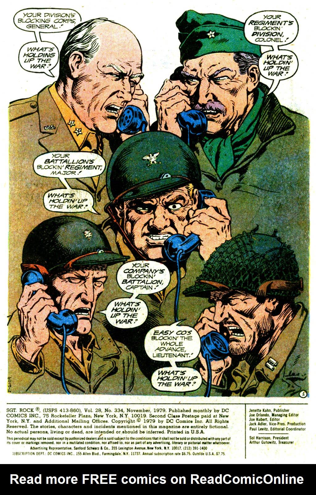 Read online Sgt. Rock comic -  Issue #334 - 3