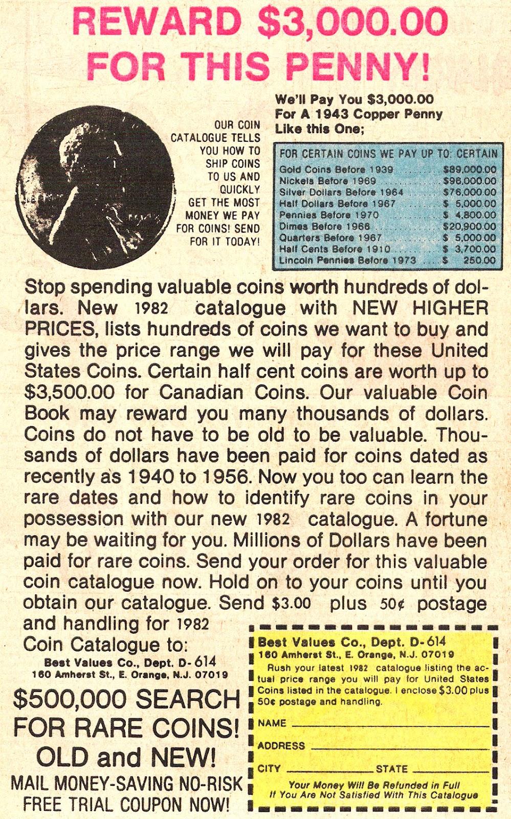 1968 D Gold Penny