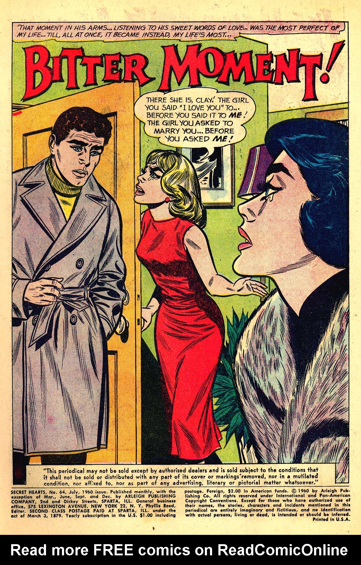 Read online Secret Hearts comic -  Issue #64 - 3