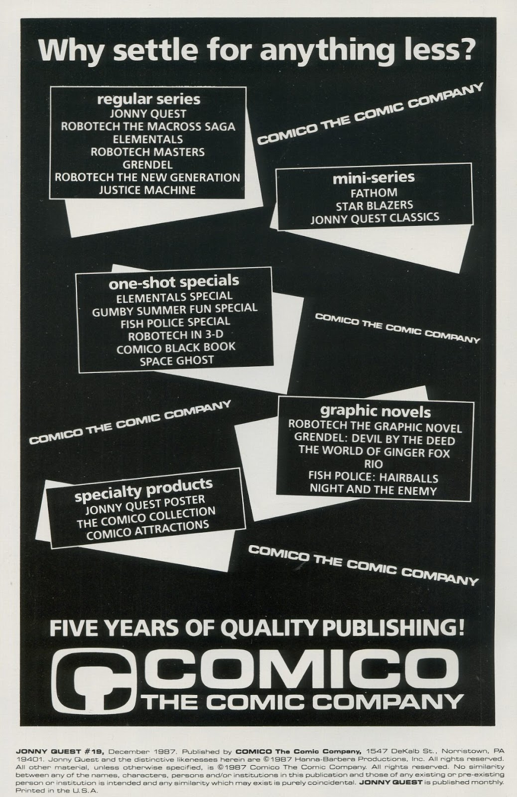 Jonny Quest (1986) issue 19 - Page 2