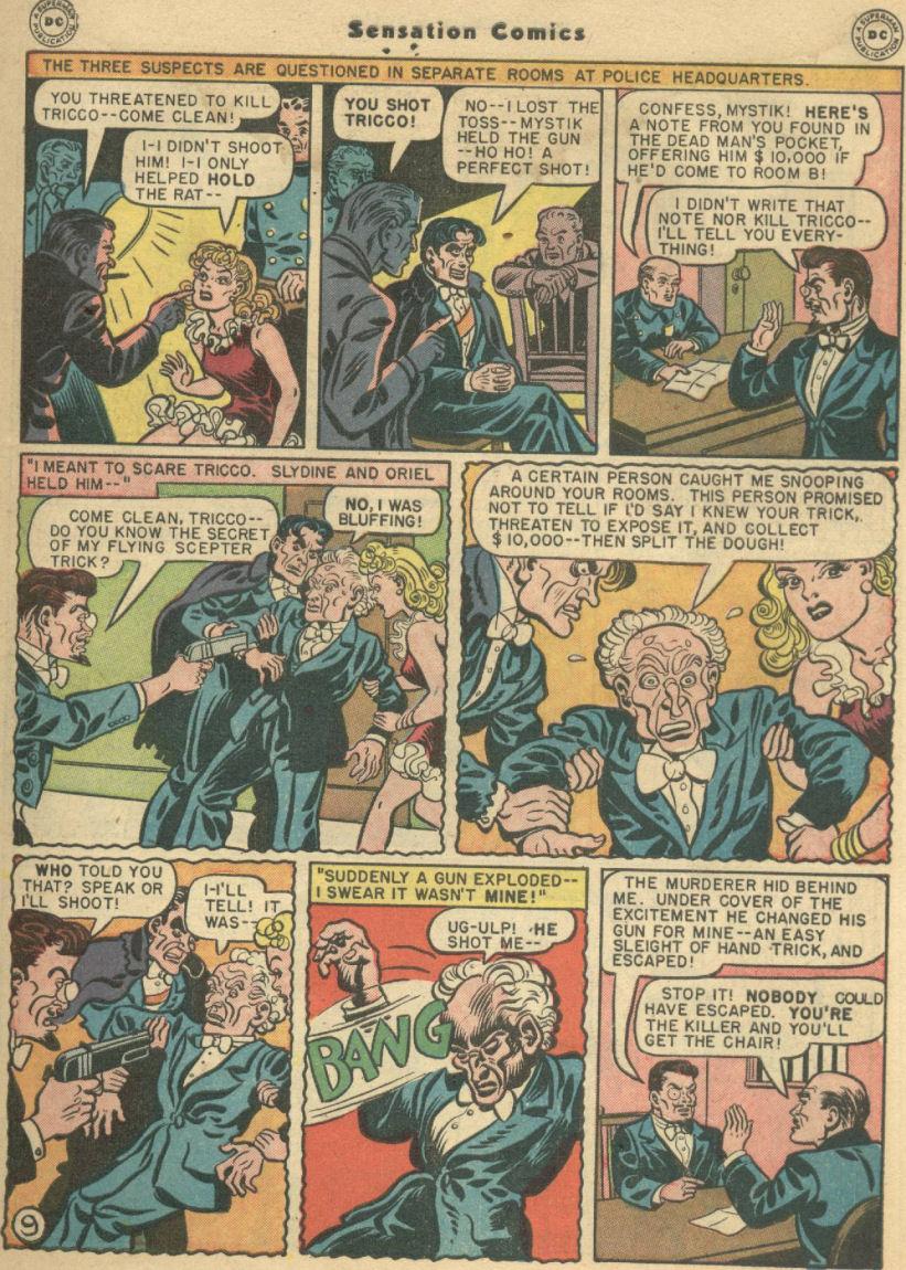 Read online Sensation (Mystery) Comics comic -  Issue #69 - 13