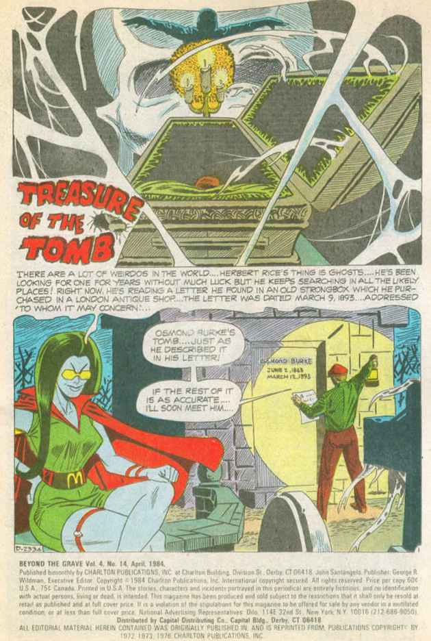 Read online Beyond the Grave (1983) comic -  Issue #14 - 2