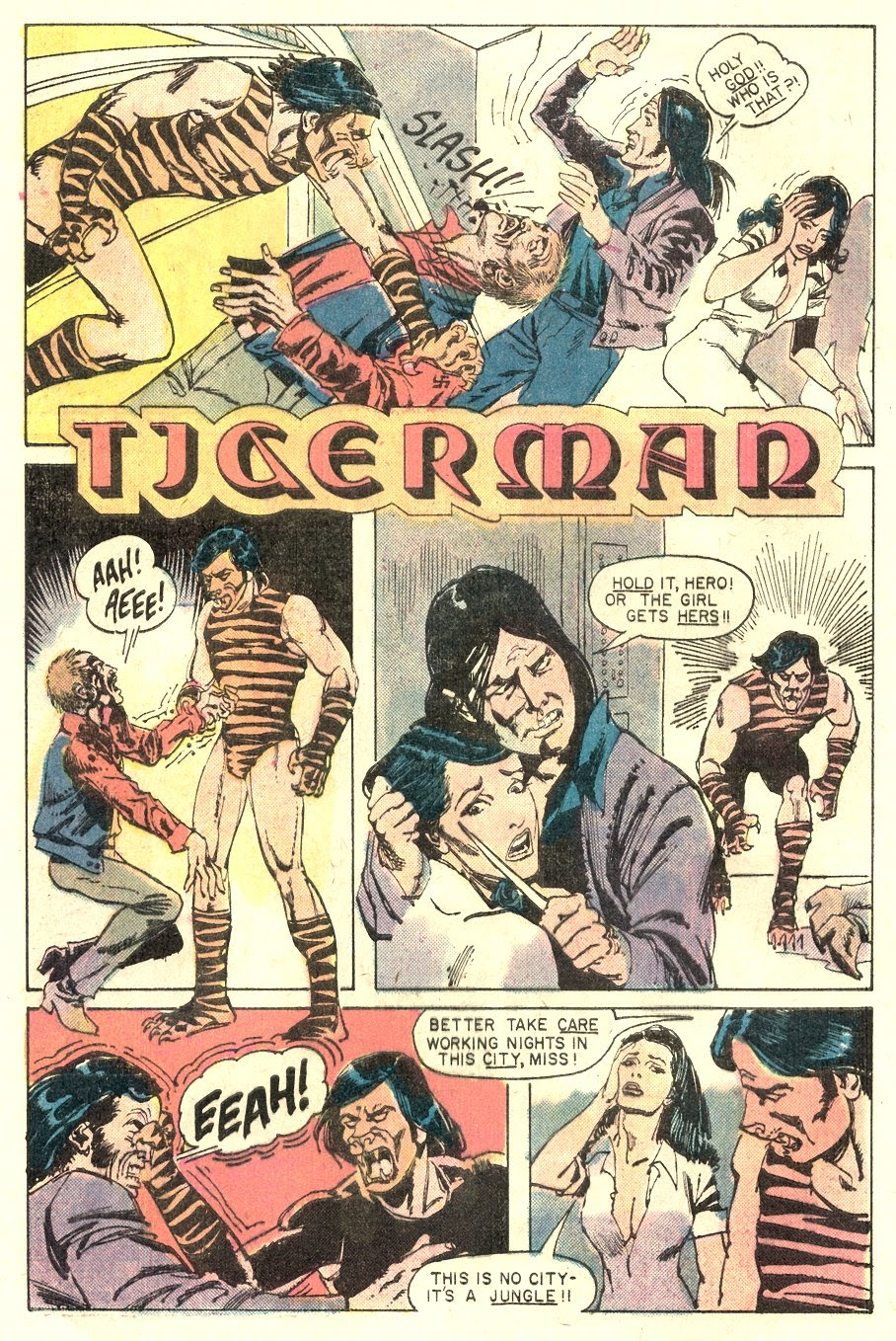 Read online Tiger-Man comic -  Issue #1 - 4