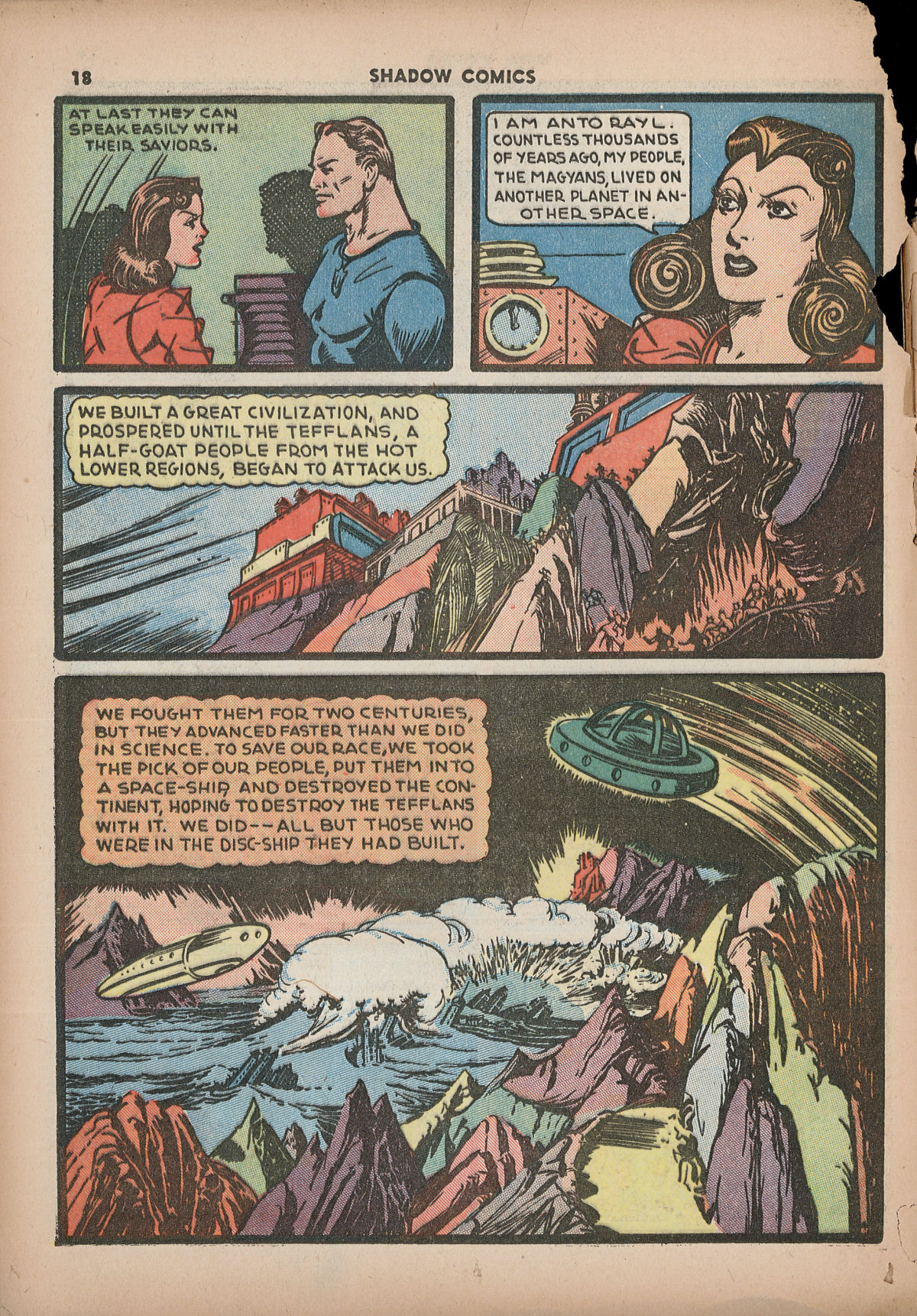 Read online Shadow Comics comic -  Issue #2 - 21