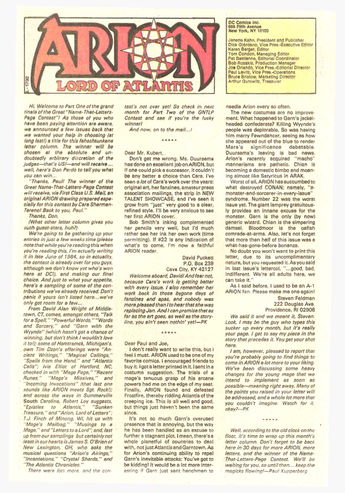 Read online Arion, Lord of Atlantis comic -  Issue #27 - 25