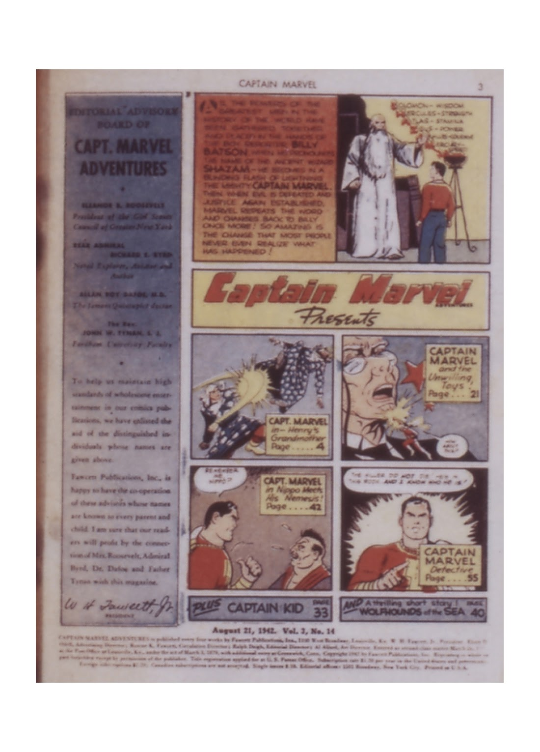 Captain Marvel Adventures issue 14 - Page 3