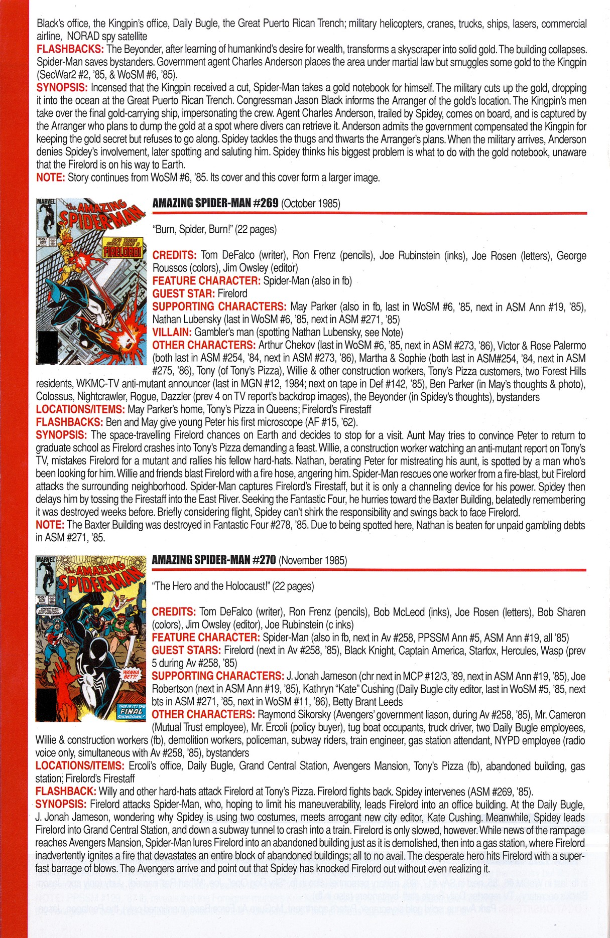 Read online Official Index to the Marvel Universe comic -  Issue #6 - 14