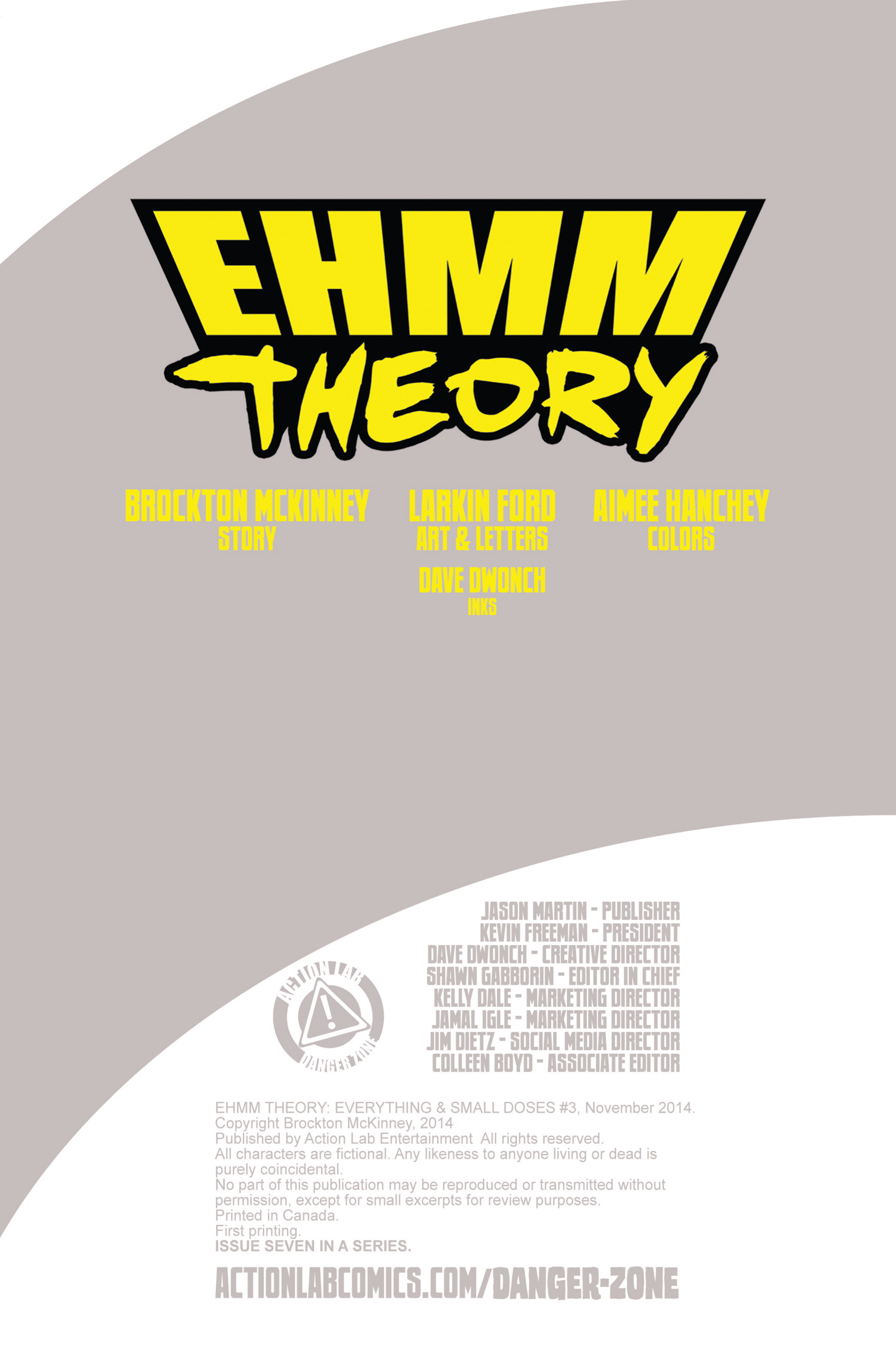 Read online Ehmm Theory: Everything & Small Doses comic -  Issue #3 - 2