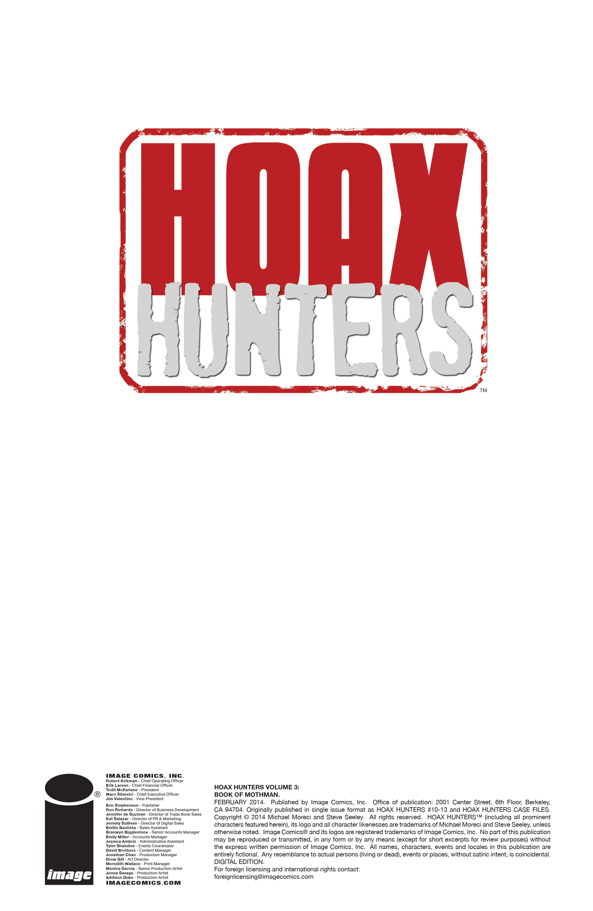 Read online Hoax Hunters (2012) comic -  Issue # TPB 3 - 3