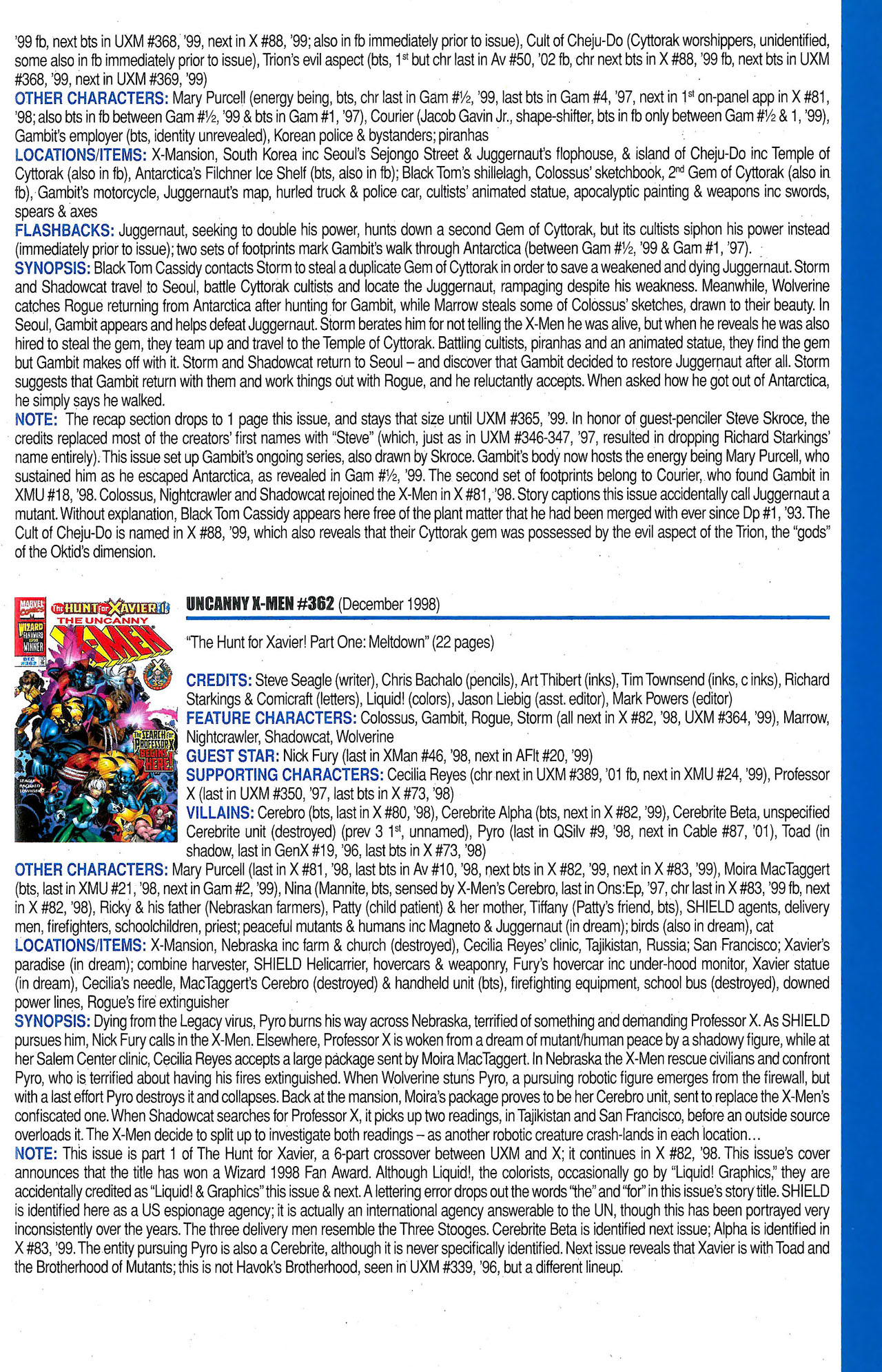 Read online Official Index to the Marvel Universe comic -  Issue #9 - 59