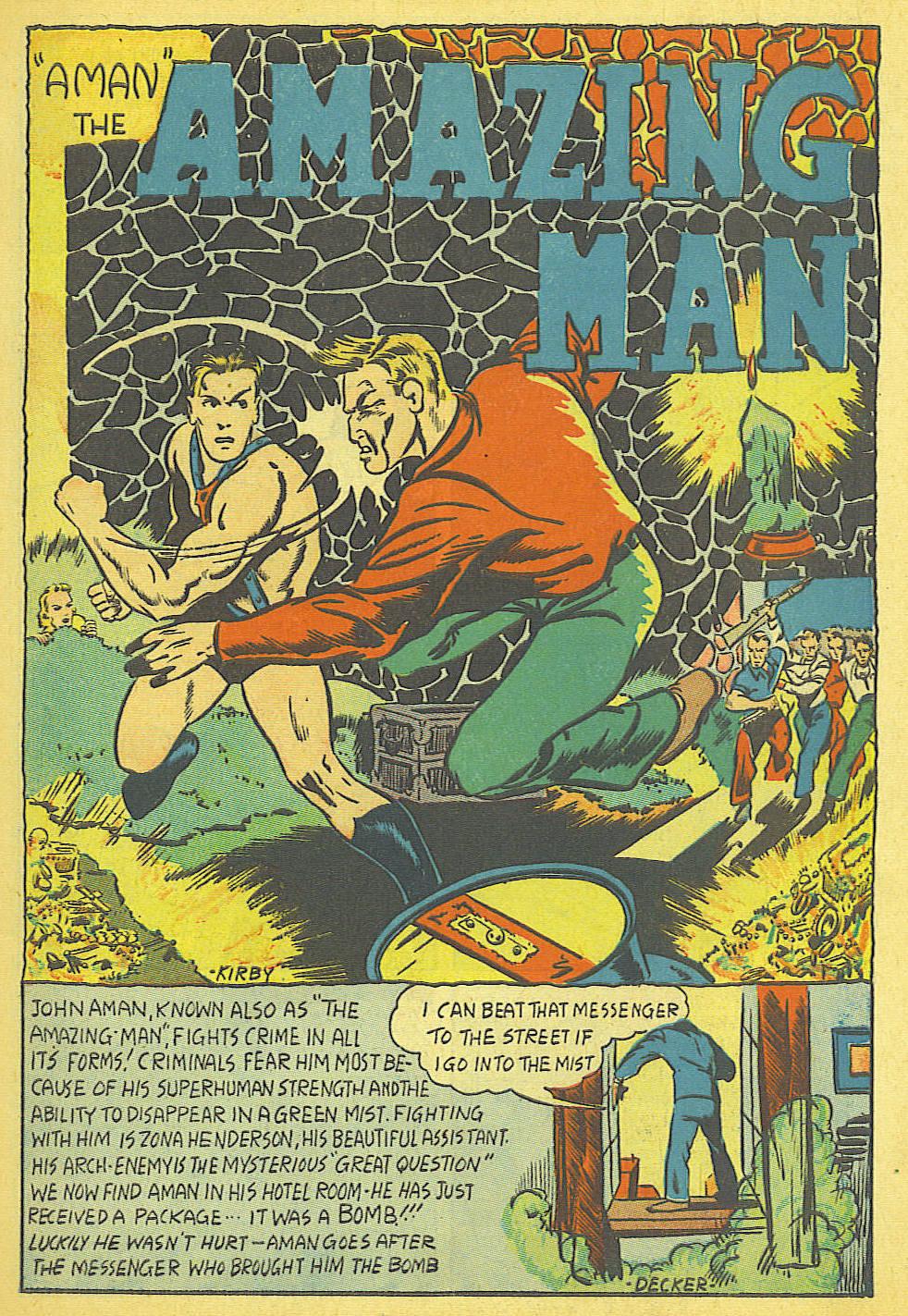 Read online Amazing Man Comics comic -  Issue #19 - 3