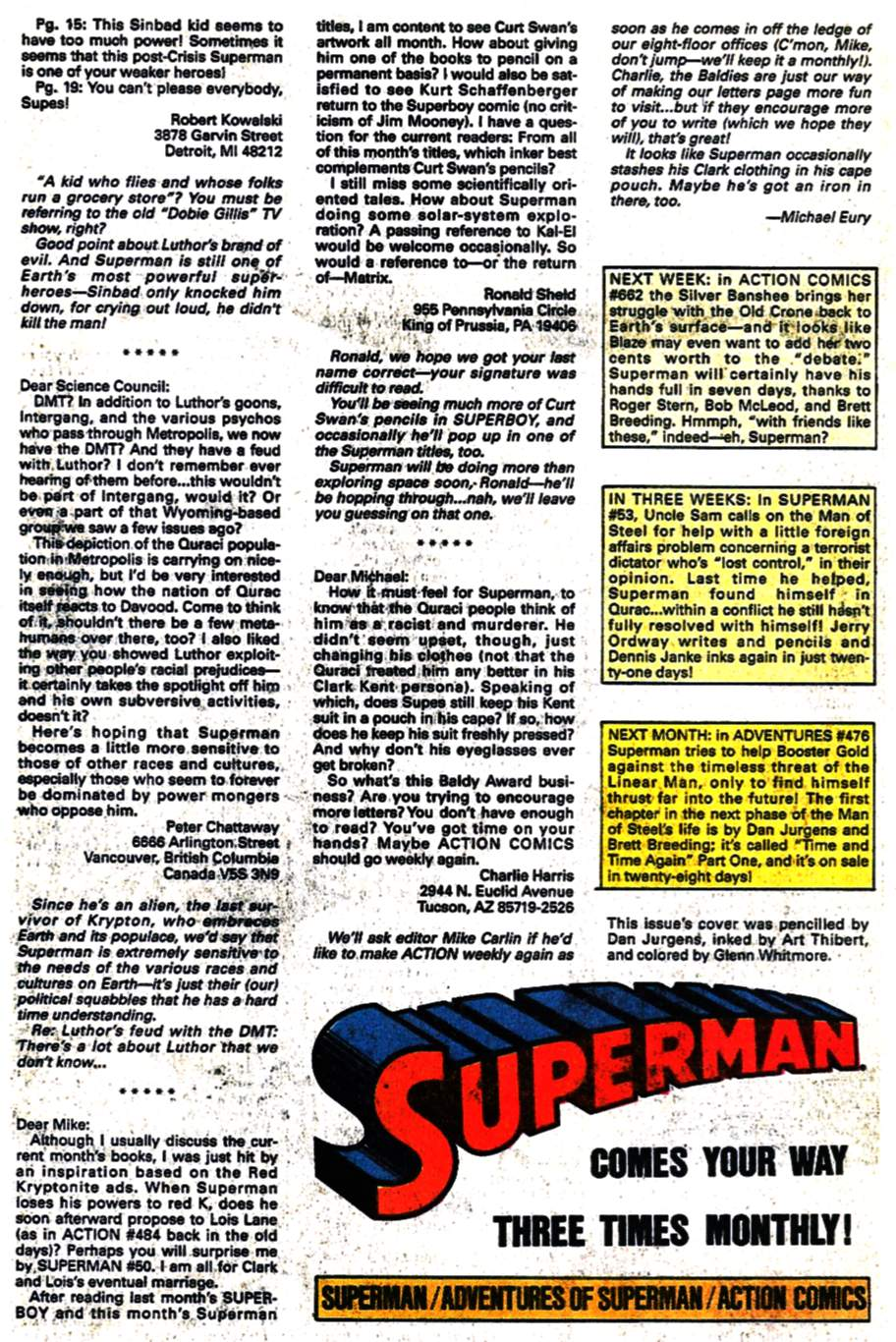 Read online Adventures of Superman (1987) comic -  Issue #475 - 25