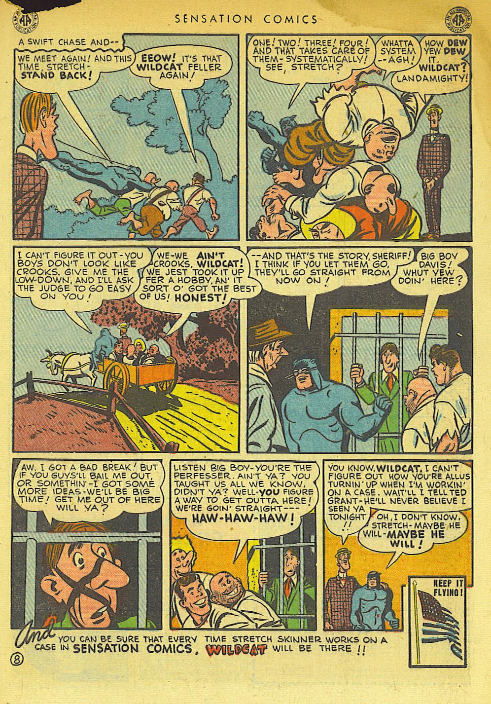 Read online Sensation (Mystery) Comics comic -  Issue #42 - 49