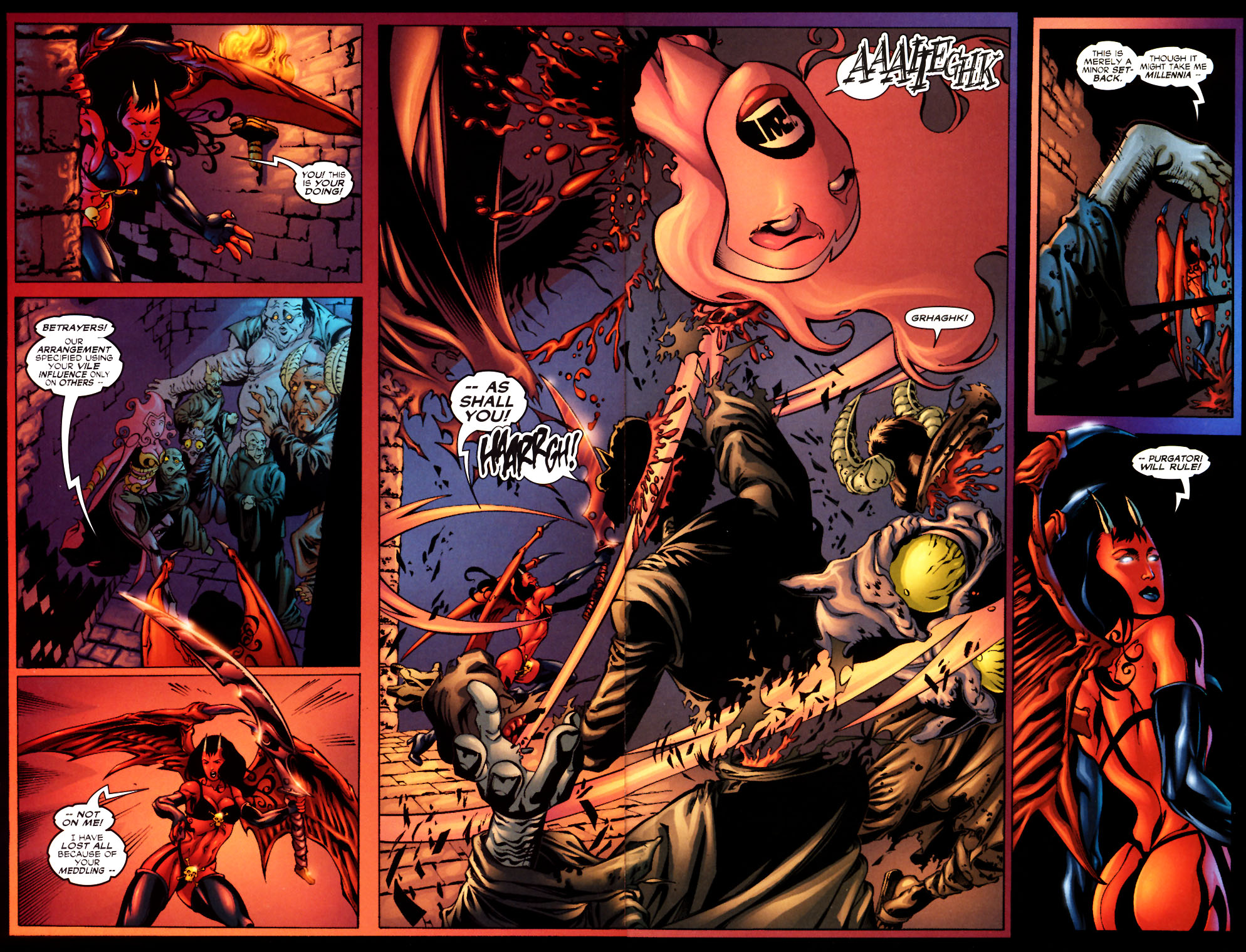 Spider-Girl splash page from the first arc of Spider-Girl