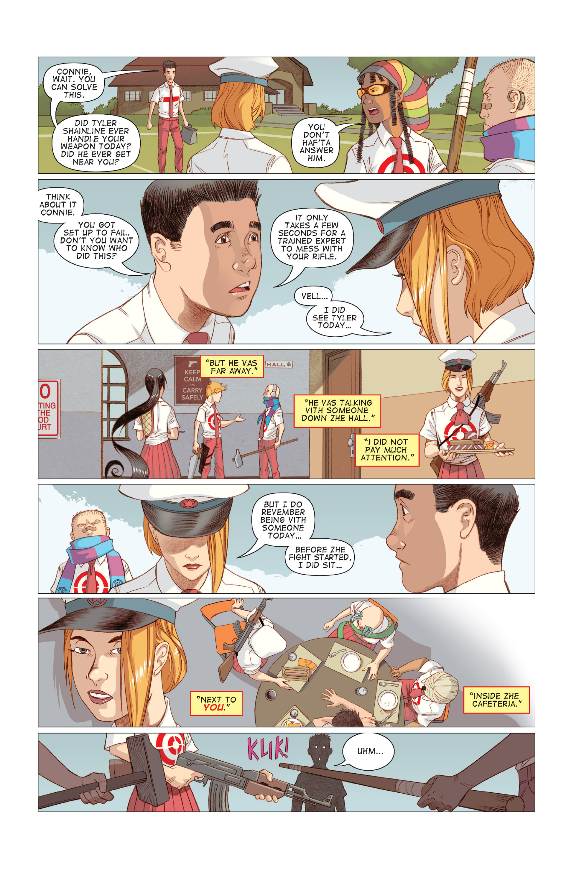 Read online Five Weapons comic -  Issue #7 - 8