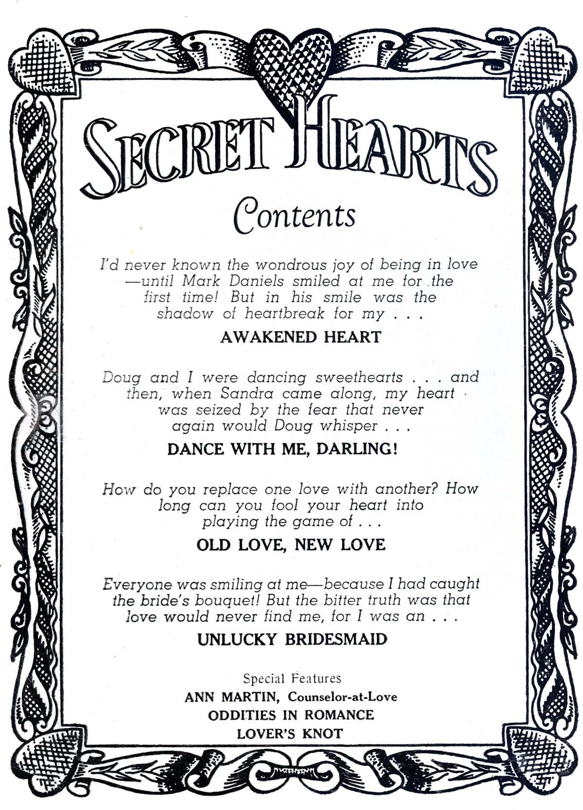 Read online Secret Hearts comic -  Issue #38 - 2