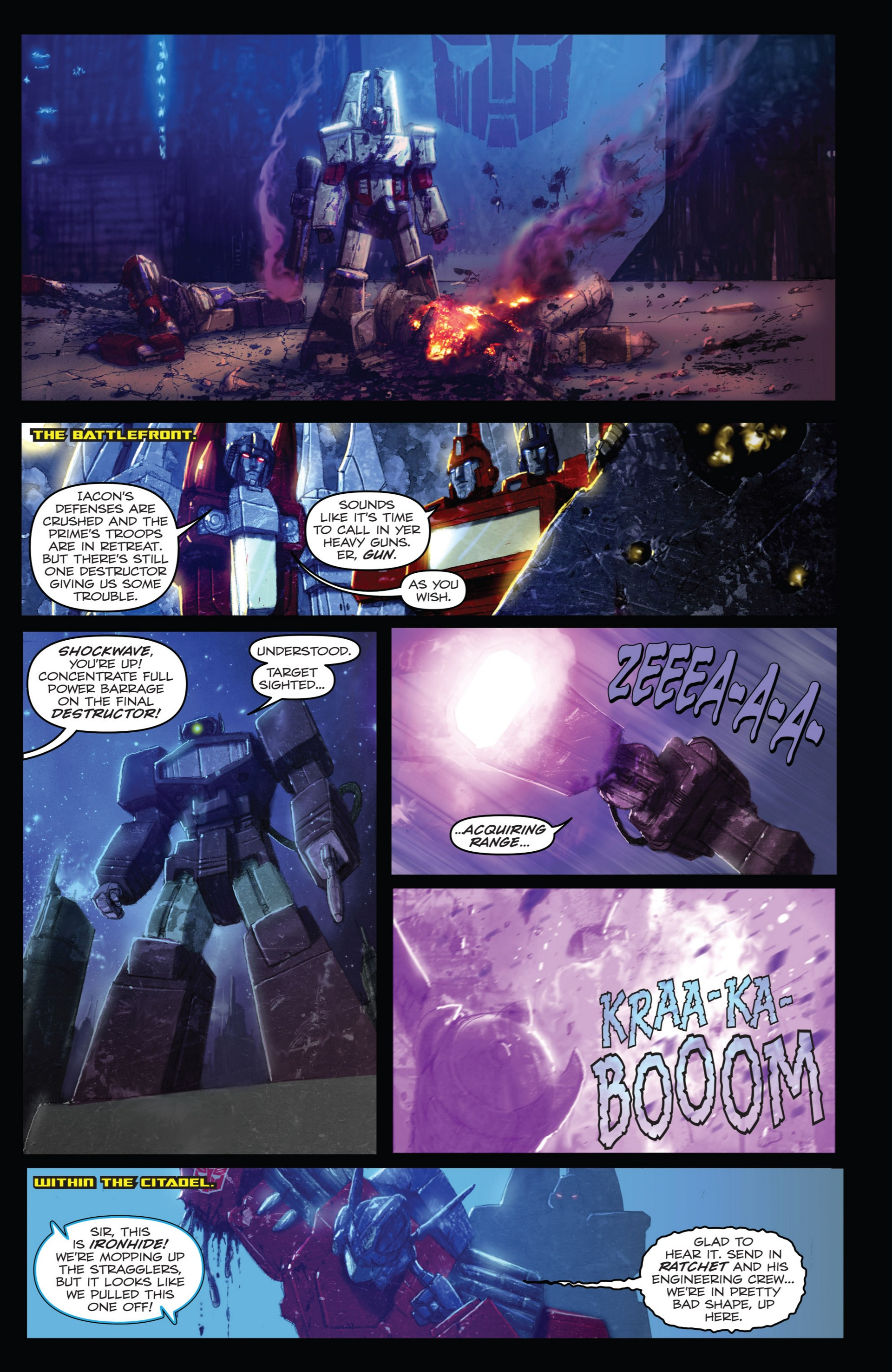 Read online Transformers: Autocracy comic -  Issue # Full - 77