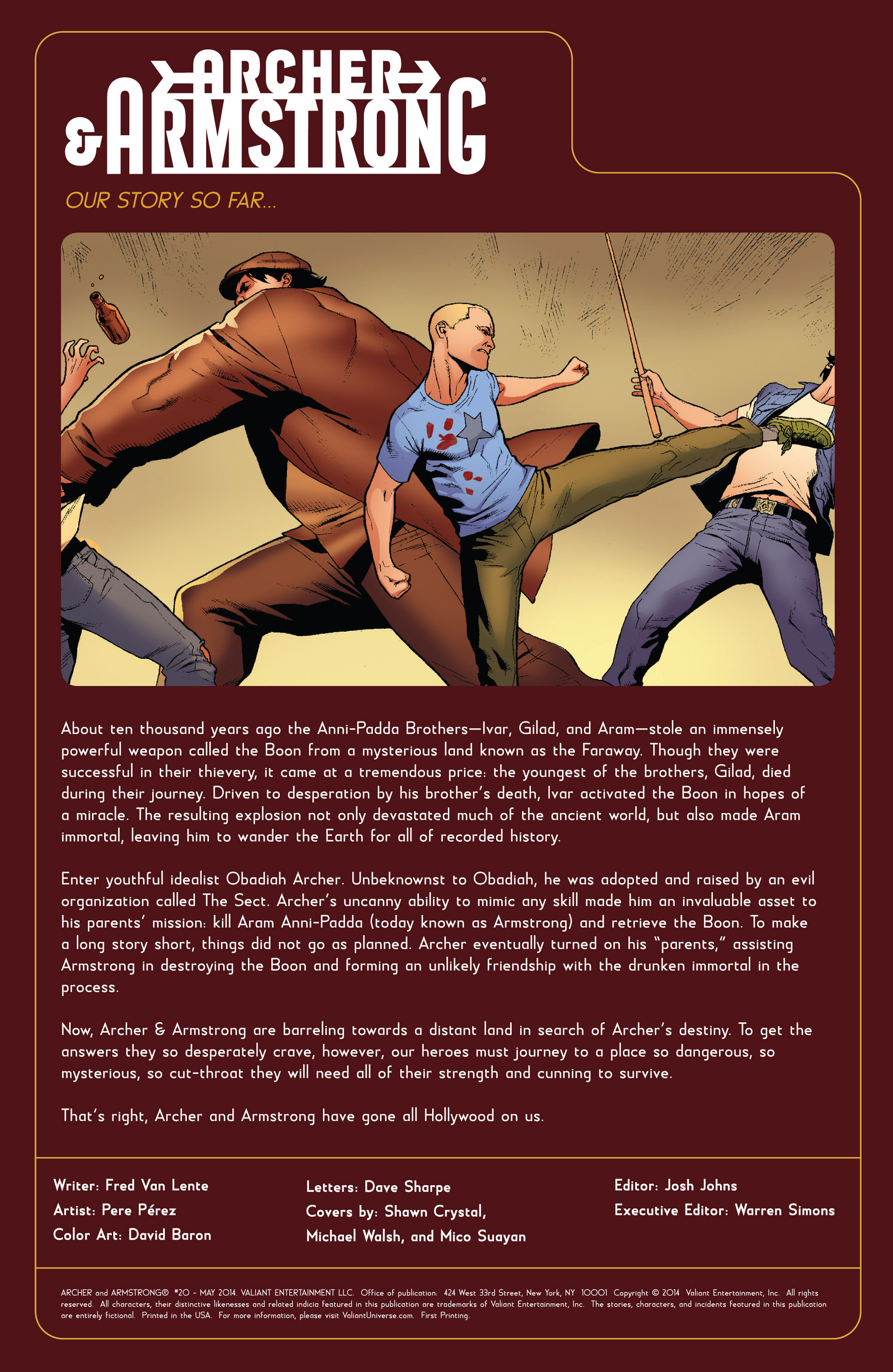 Read online Archer and Armstrong comic -  Issue #20 - 2
