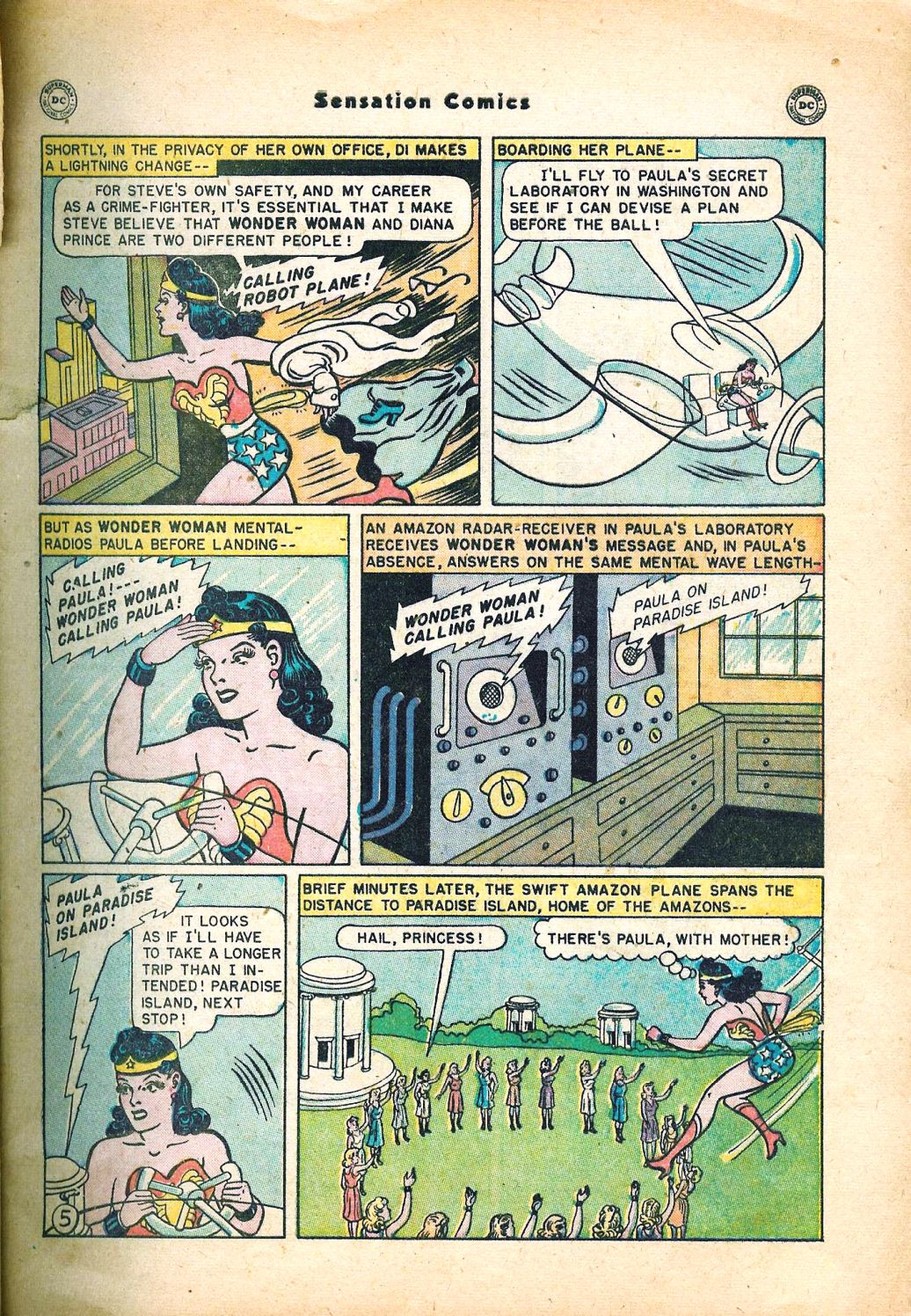 Read online Sensation (Mystery) Comics comic -  Issue #95 - 7