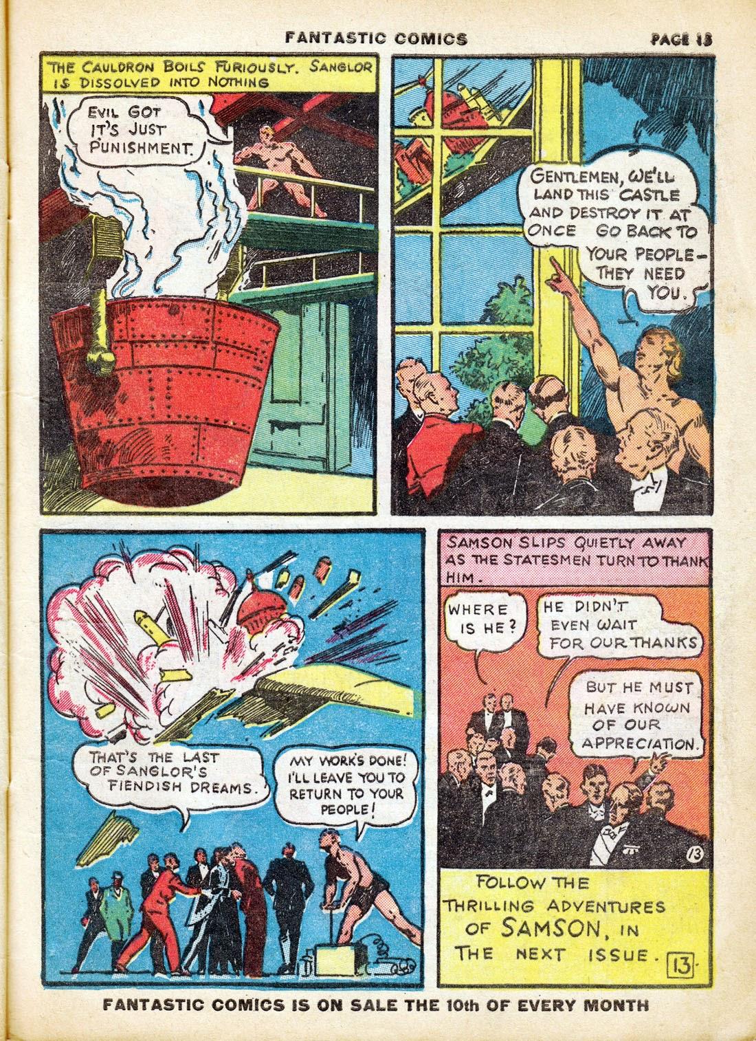 Read online Fantastic Comics comic -  Issue #7 - 15
